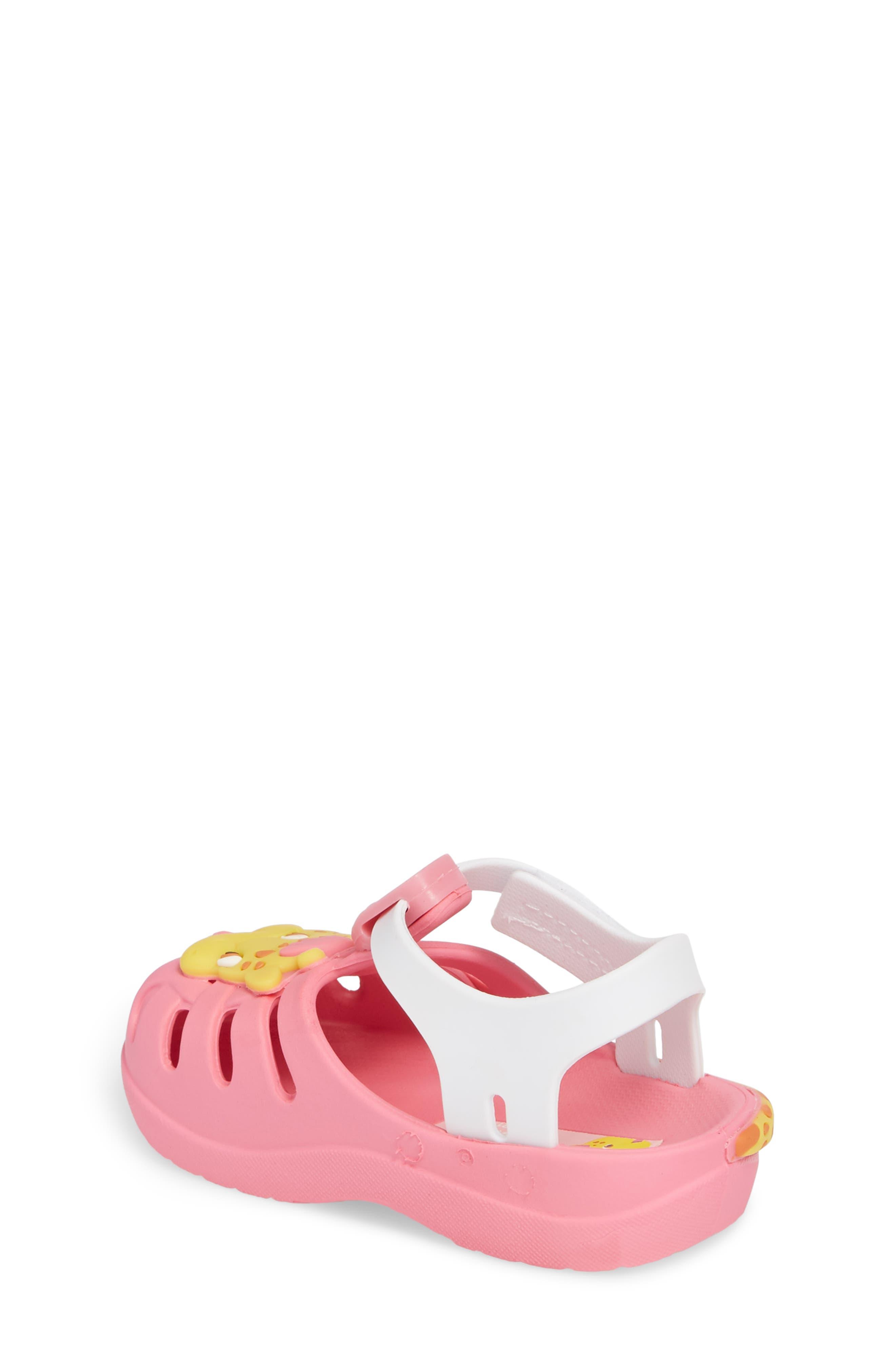 Summer Baby Waterproof Sandal,                             Alternate thumbnail 2, color,                             Pink/ White