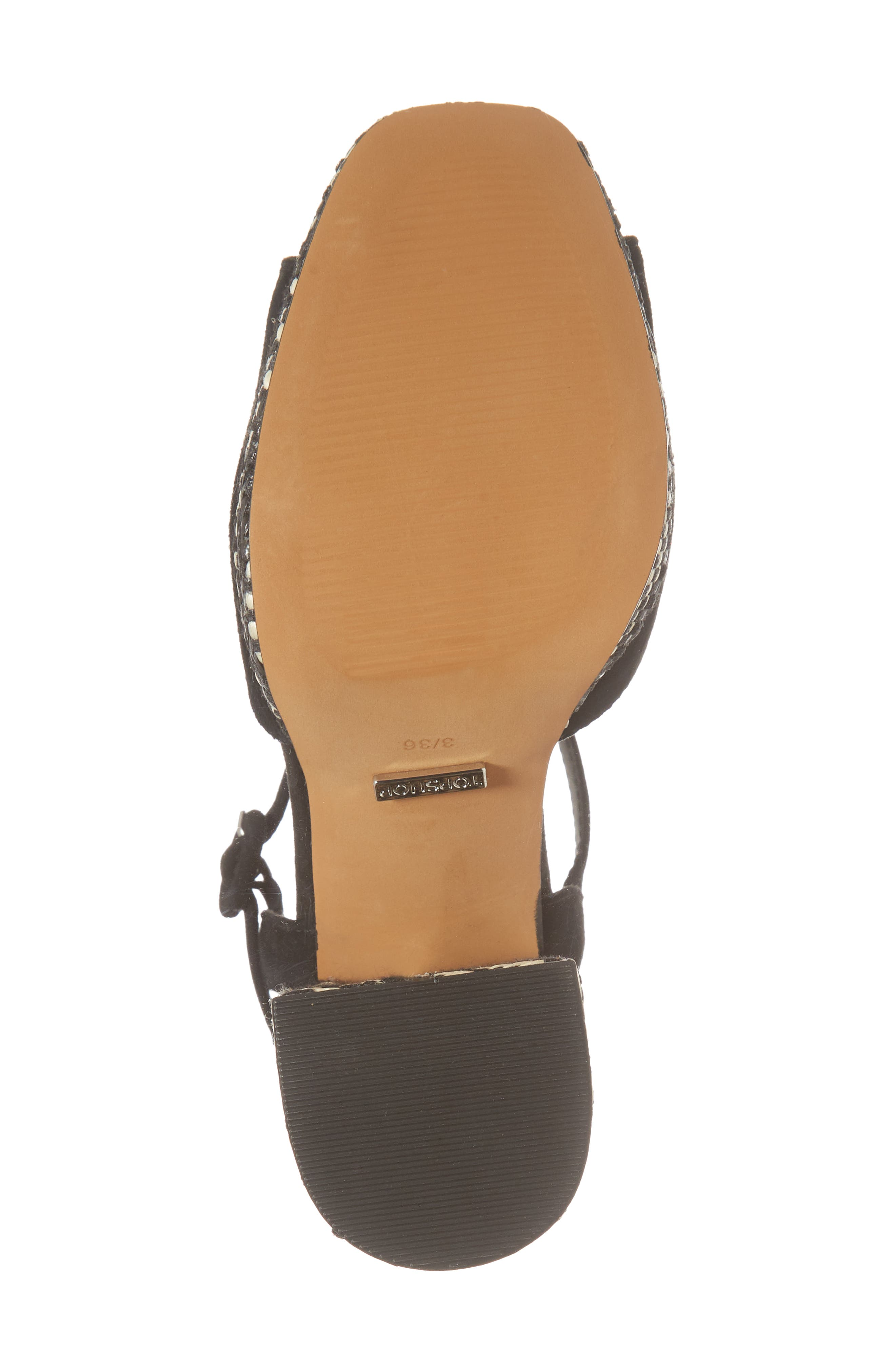 Laura Woven Block Heel Sandal,                             Alternate thumbnail 6, color,                             Black Multi