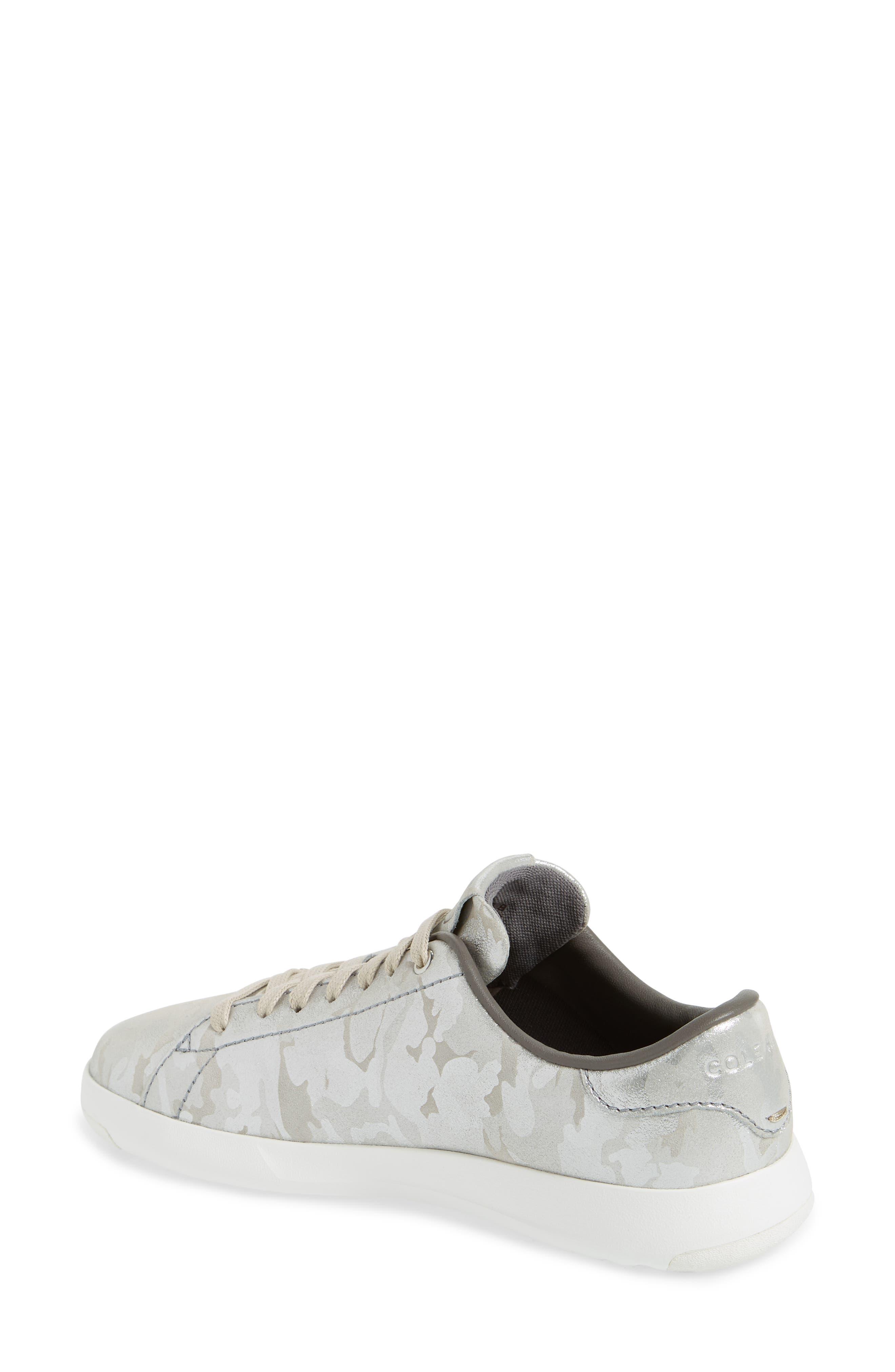 GrandPro Tennis Shoe,                             Alternate thumbnail 2, color,                             Dove Metallic Camo Leather