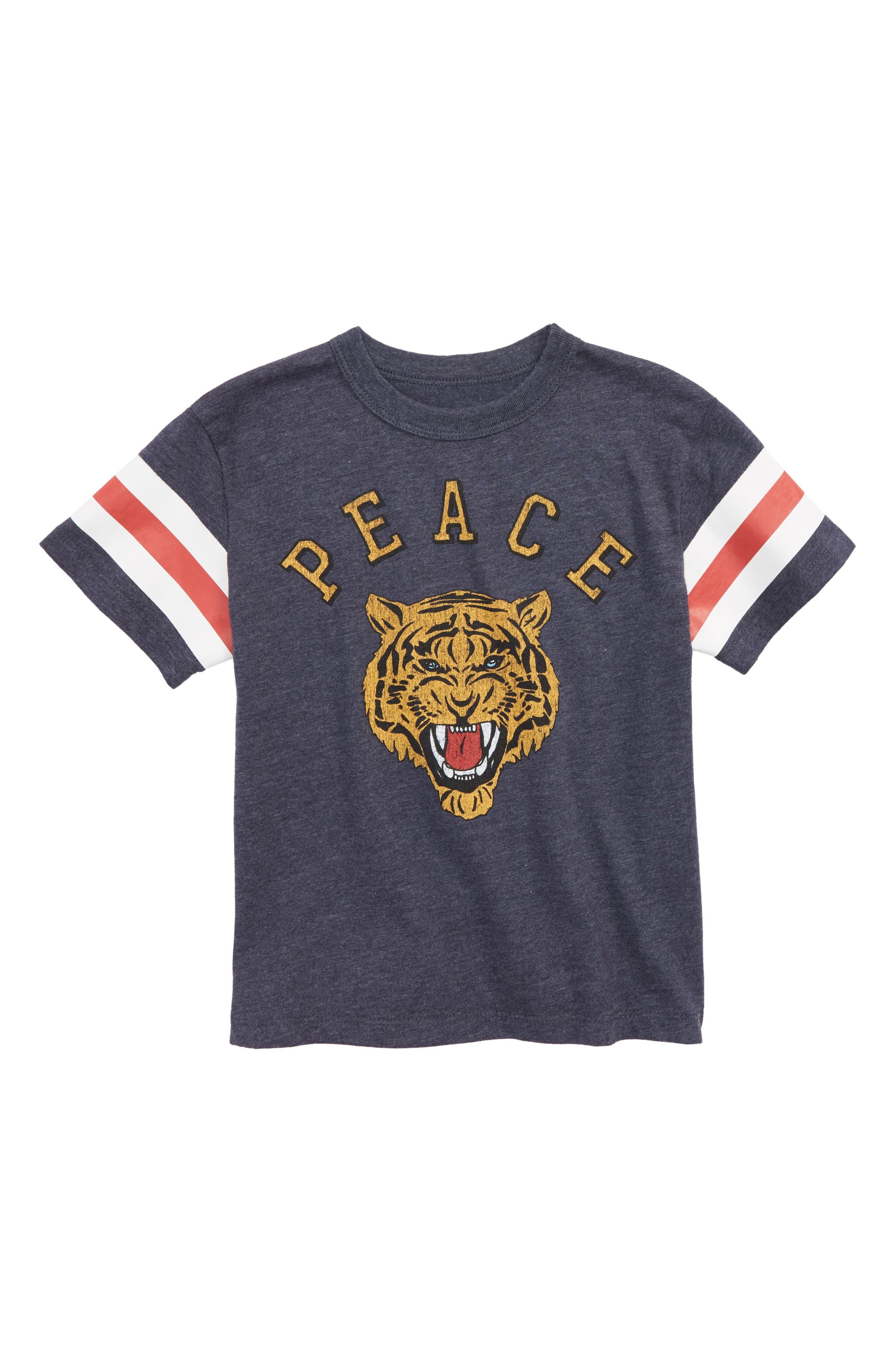 Peace Tiger T-Shirt,                             Main thumbnail 1, color,                             Avalon
