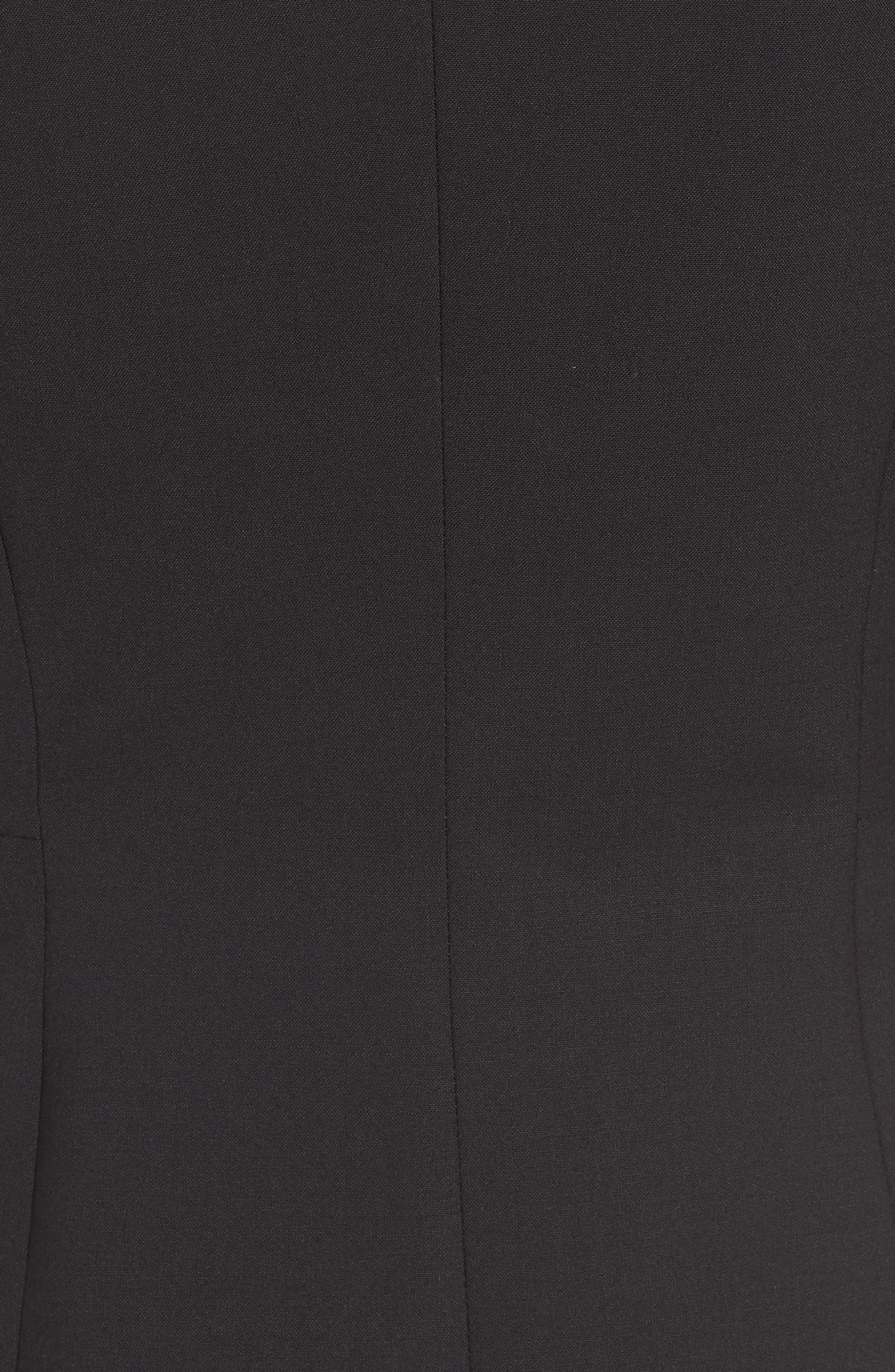 Jaru Stretch Wool Suit Jacket,                             Alternate thumbnail 5, color,                             Black