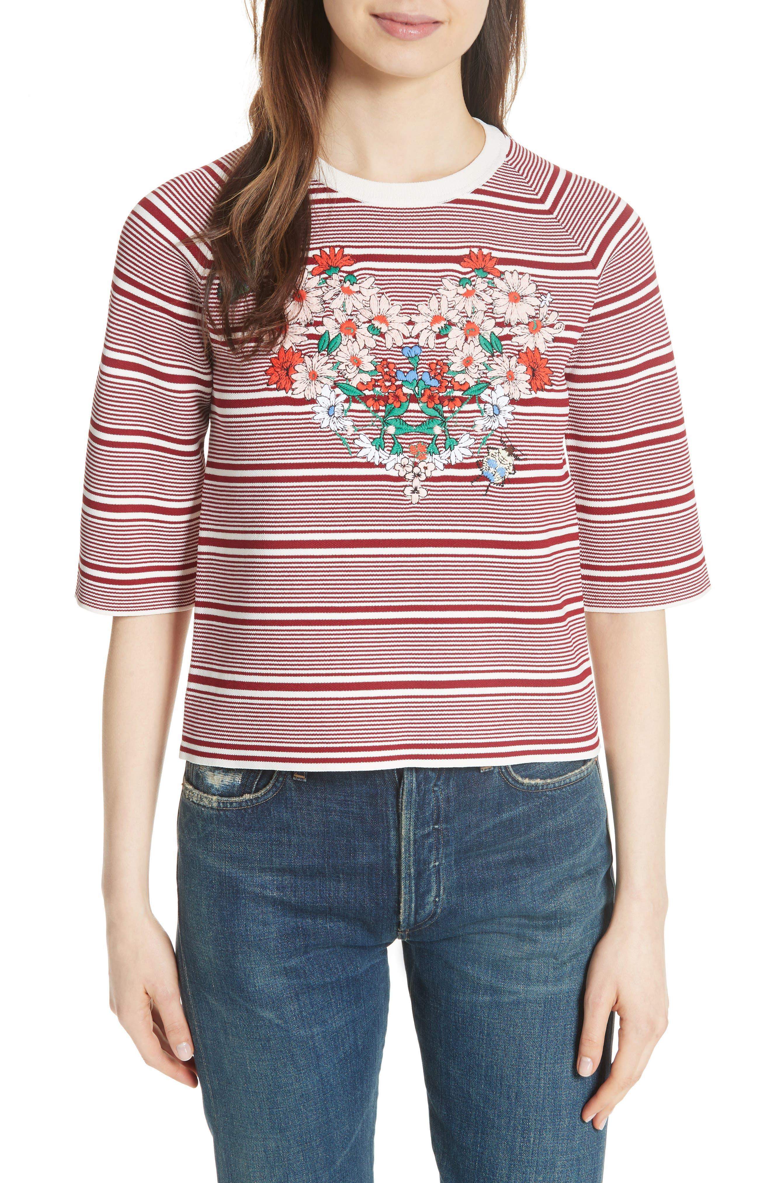 Main Image - maje Marco Stripe Sweater