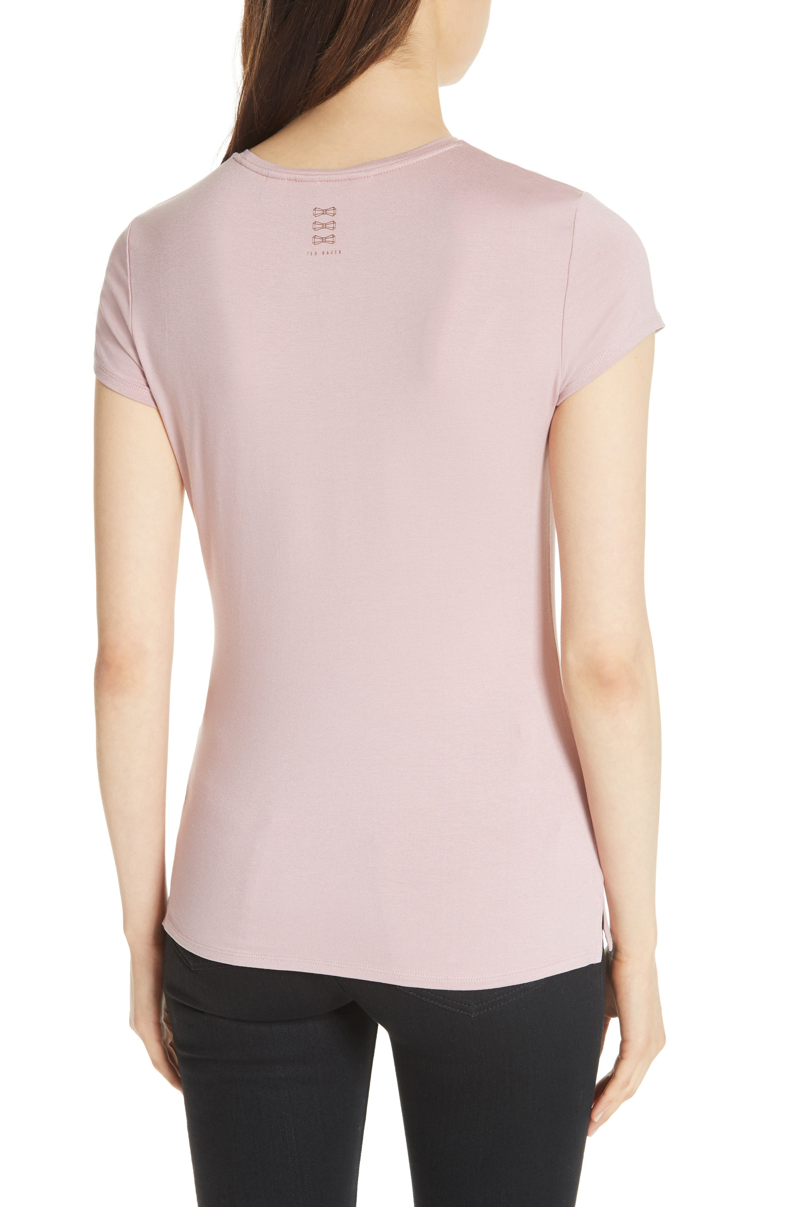 Wake Me for Champagne Tee,                             Alternate thumbnail 2, color,                             Dusky Pink