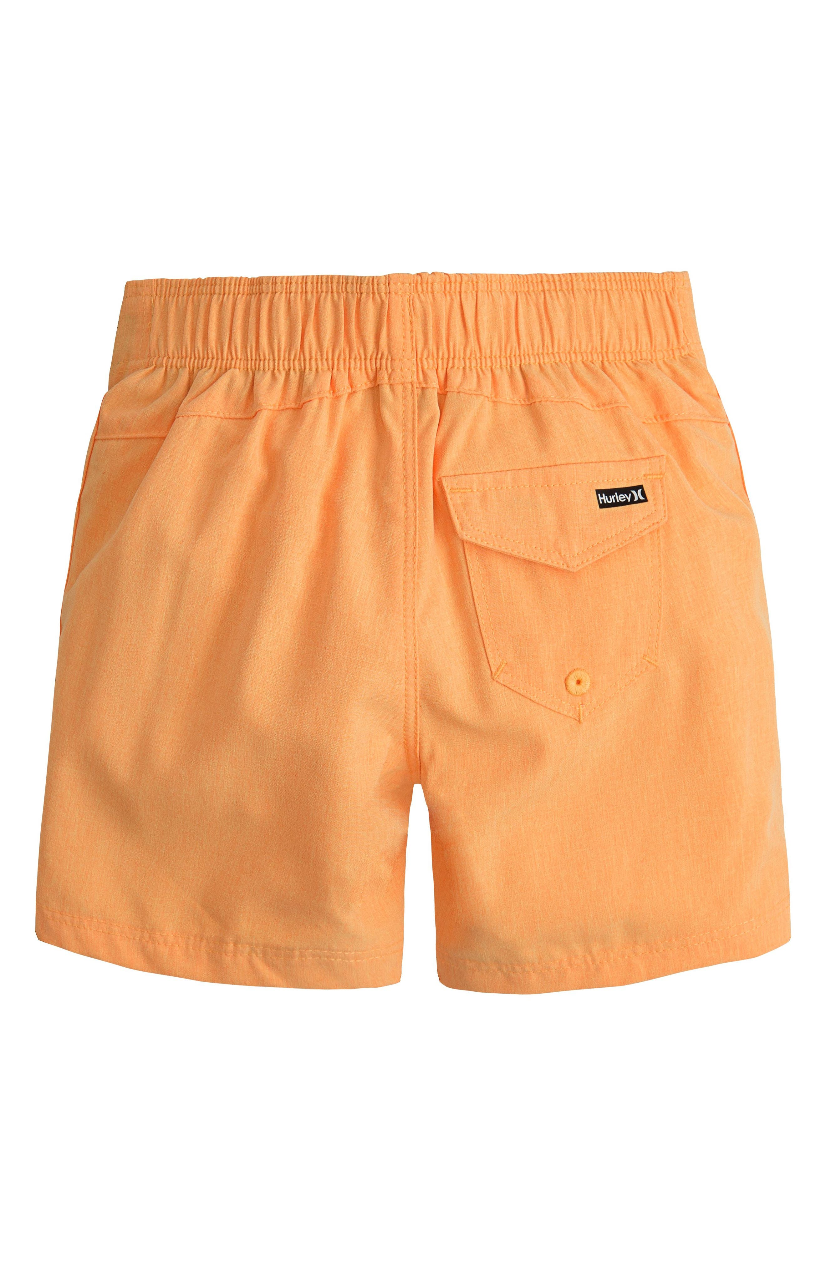 Heathered One & Only Board Shorts,                             Alternate thumbnail 2, color,                             Laser Orange Heather