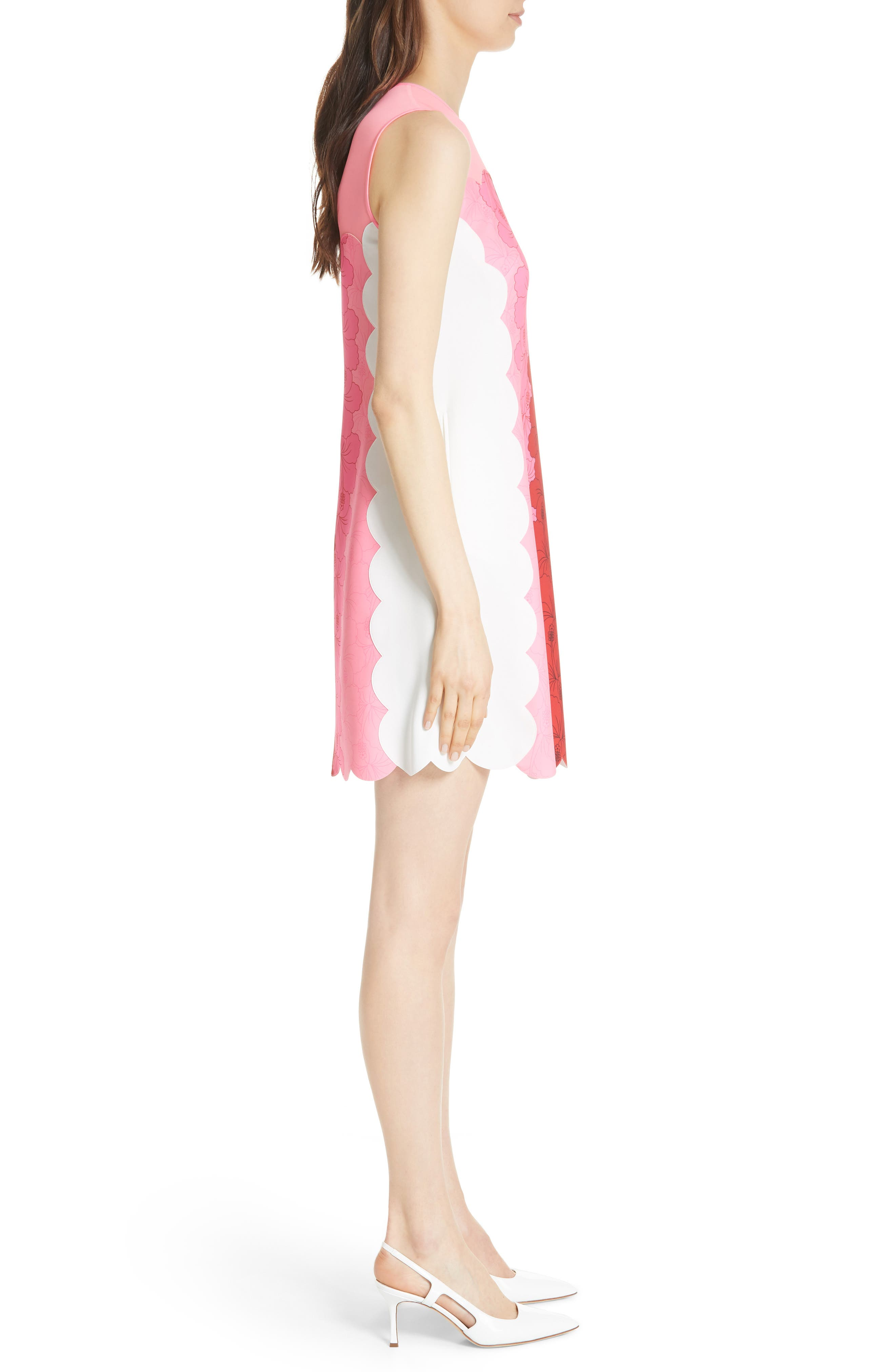 Angge Happiness Dress,                             Alternate thumbnail 3, color,                             Neon Pink