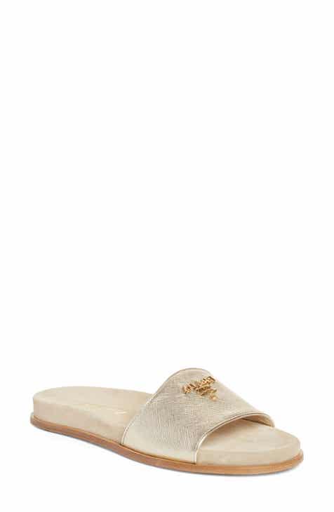 c86b027e1 Prada Logo Slide Sandal (Women)