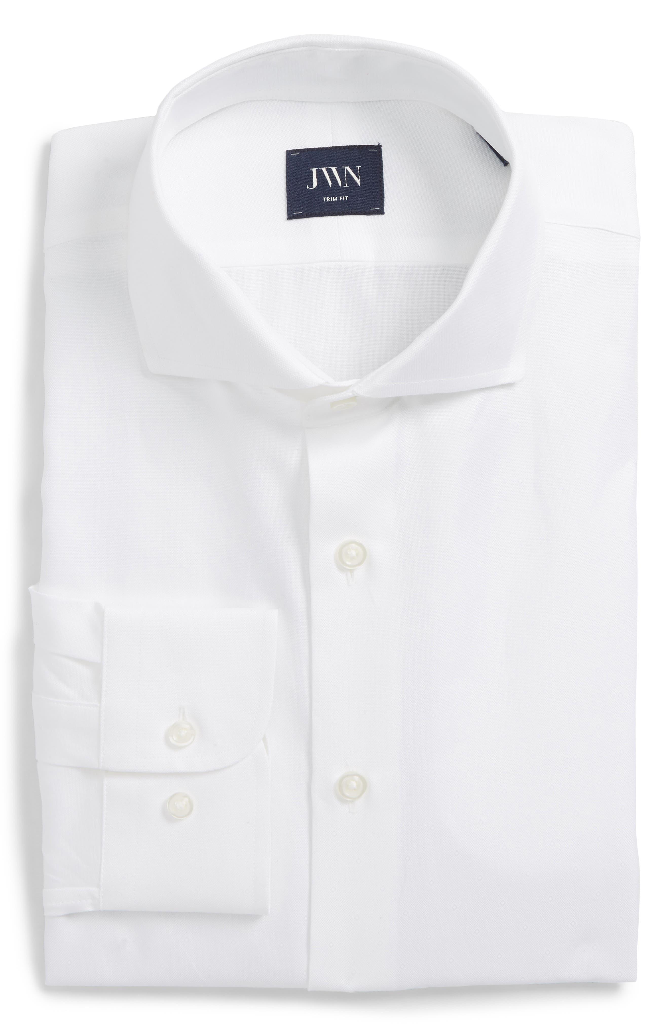 John W. Nordstrom® Trim Fit Solid Dress Shirt