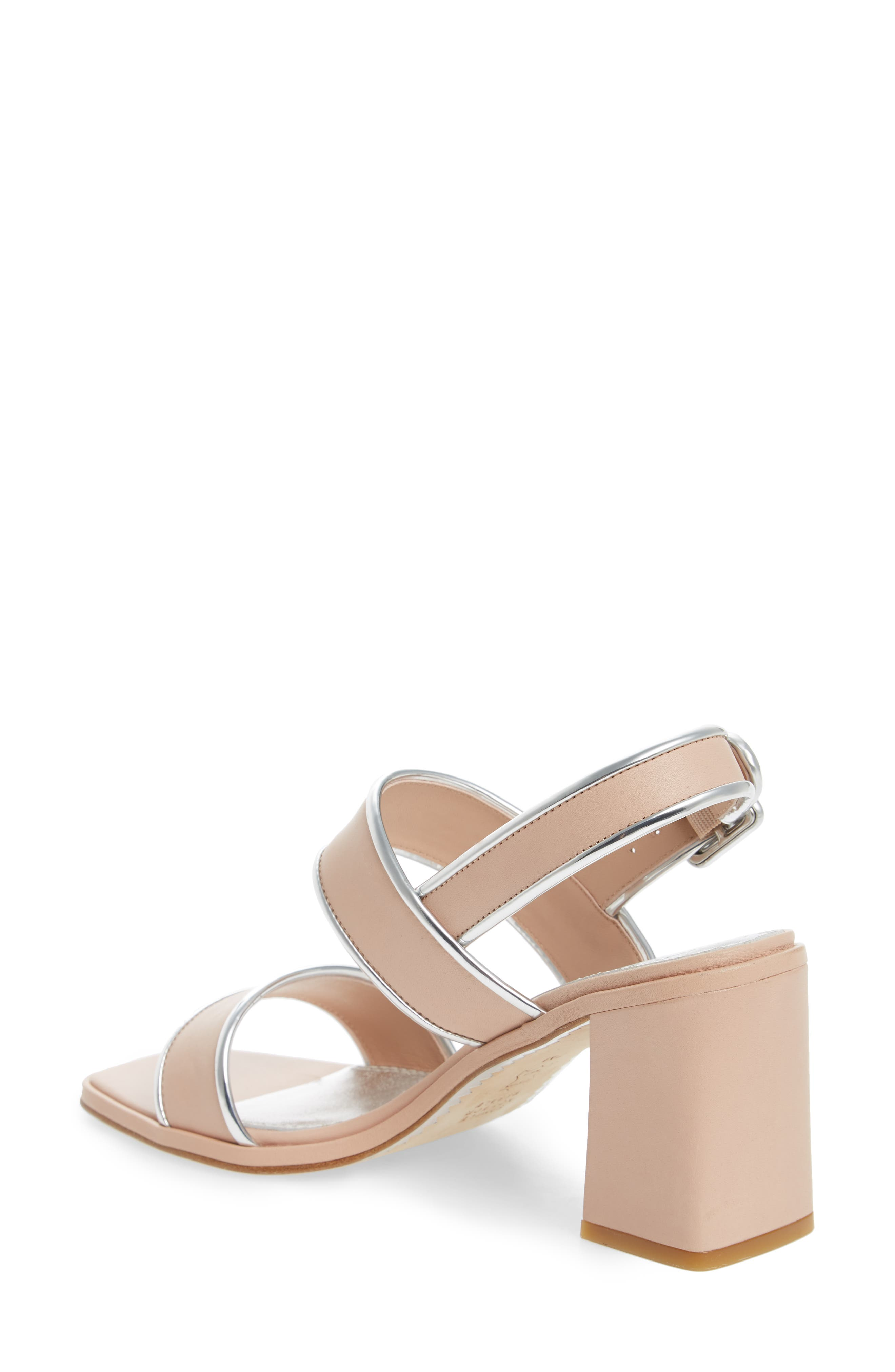 Delaney Double Strap Sandal,                             Alternate thumbnail 2, color,                             Goan Sand/ Silver