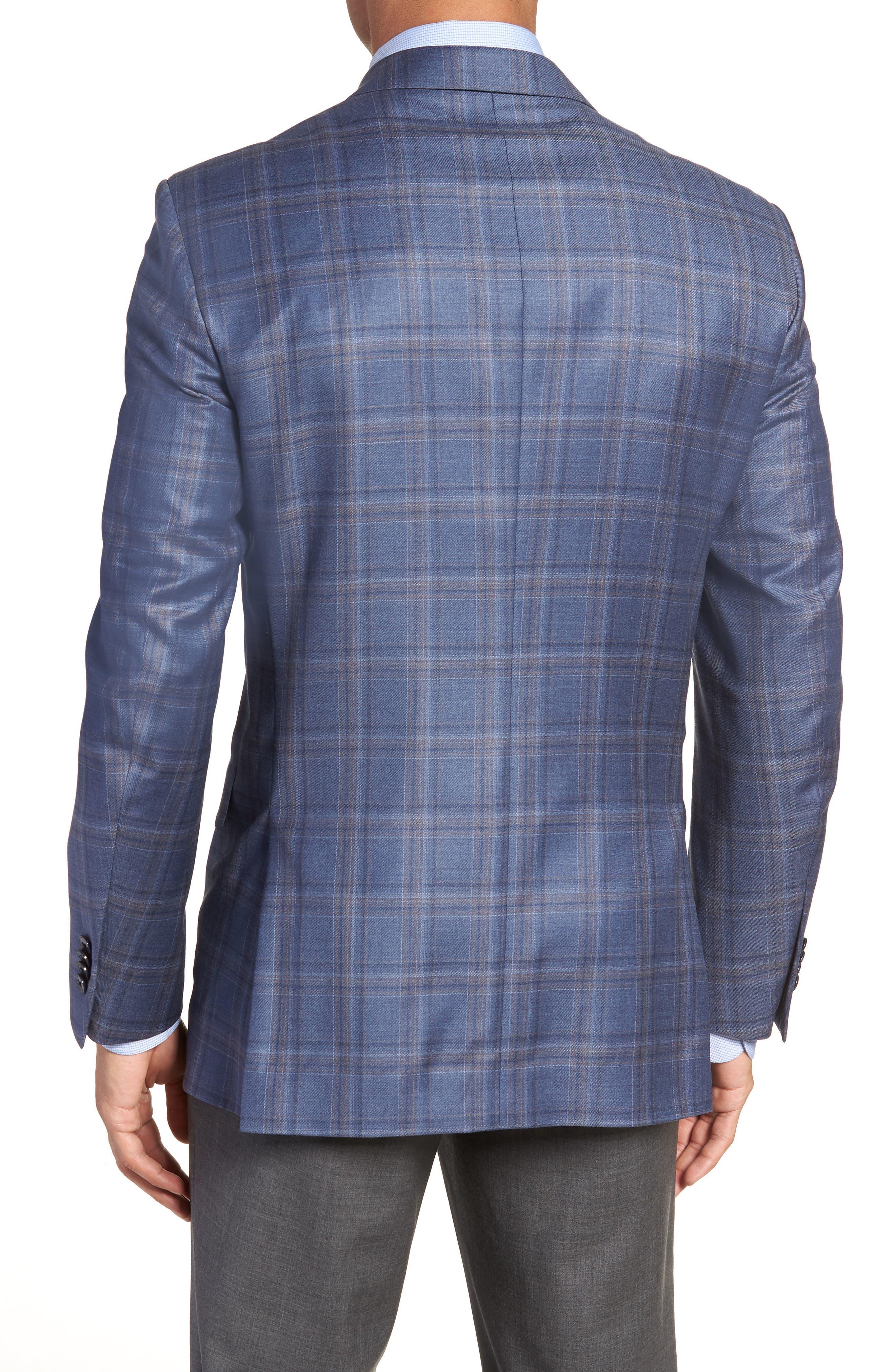 Alternate Image 2  - Peter Millar Classic Fit Windowpane Wool Sport Coat