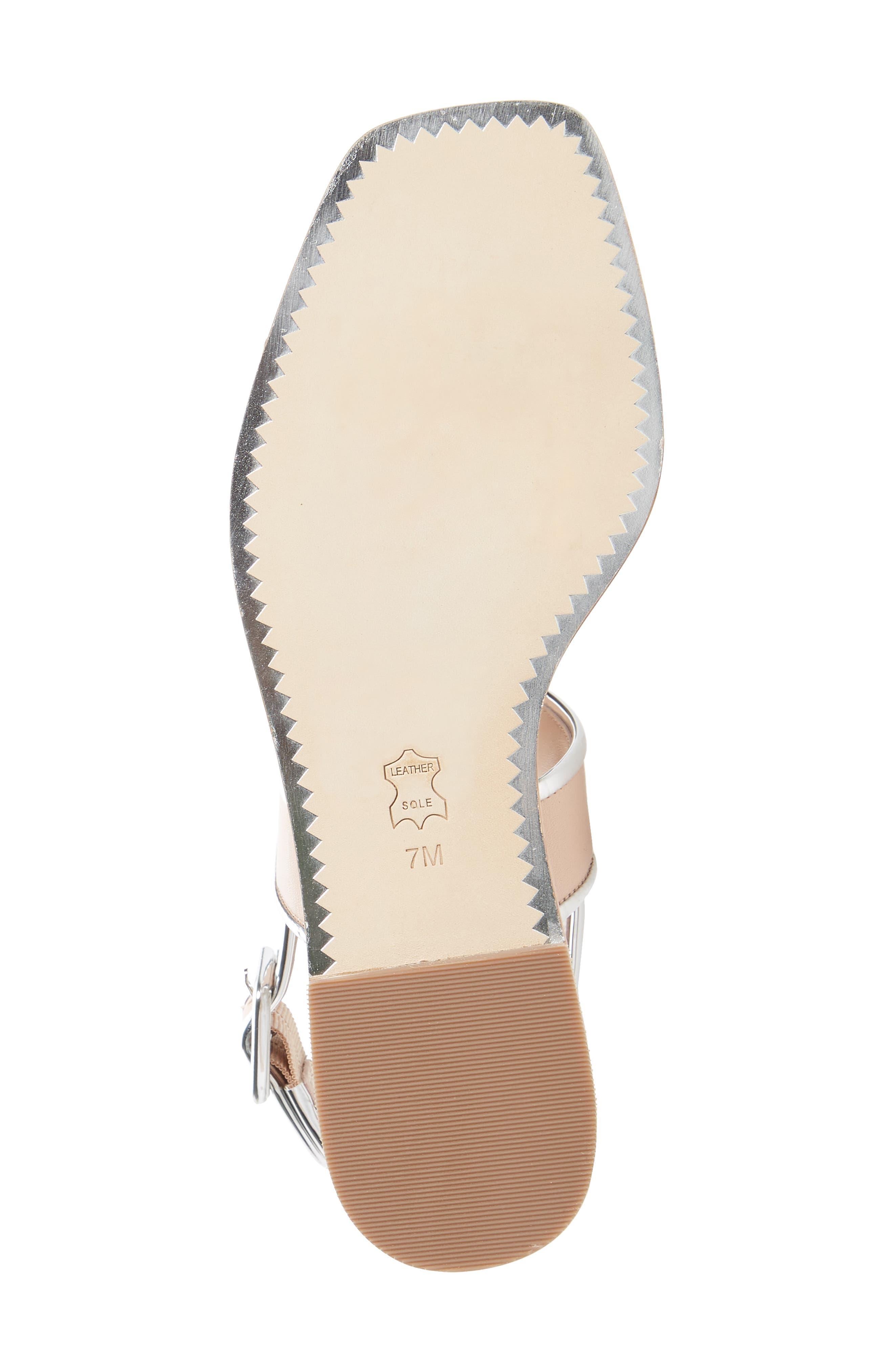 Delaney Double Strap Sandal,                             Alternate thumbnail 6, color,                             Goan Sand/ Silver