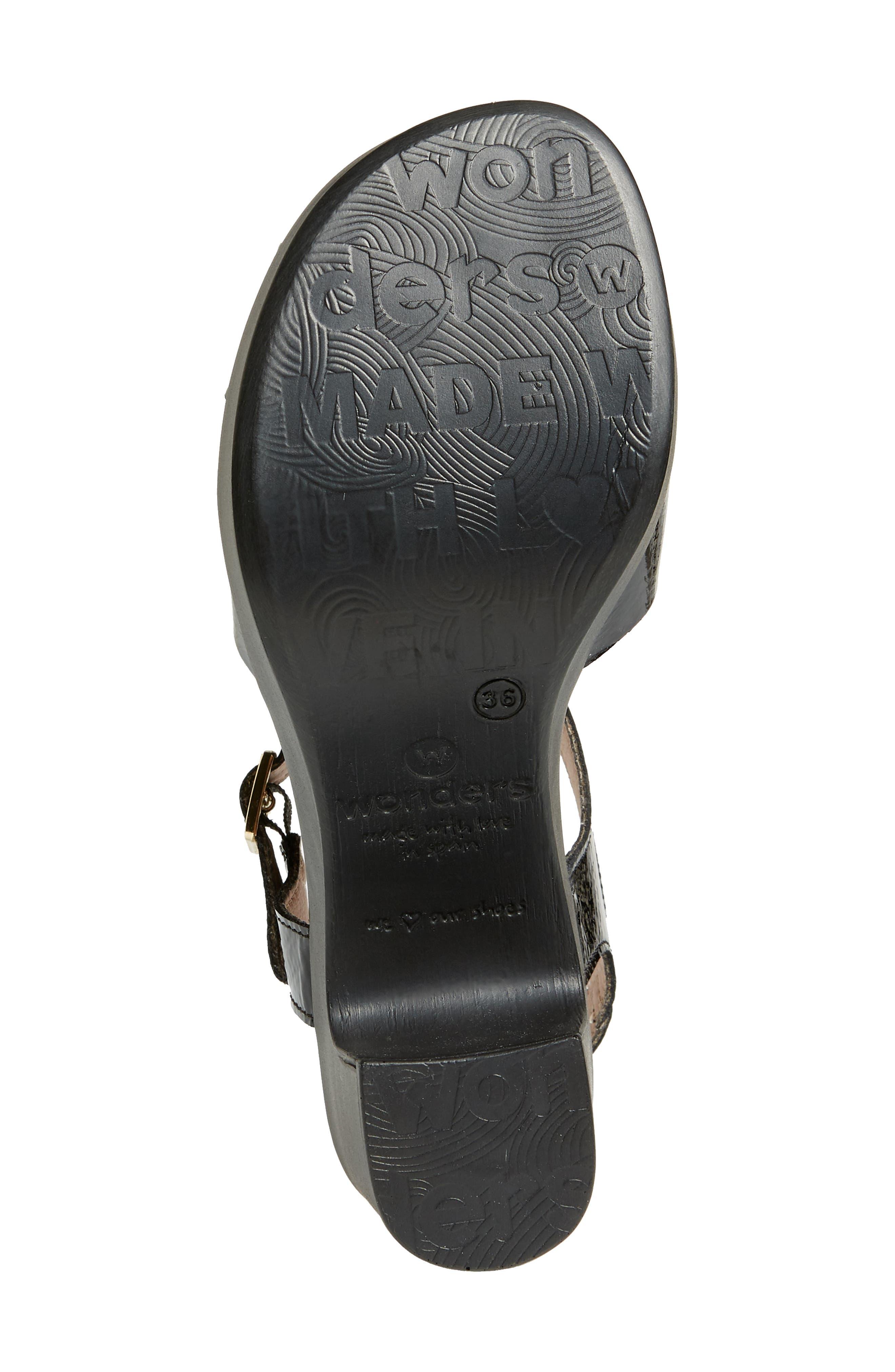 Platform Sandal,                             Alternate thumbnail 6, color,                             Black Patent Leather