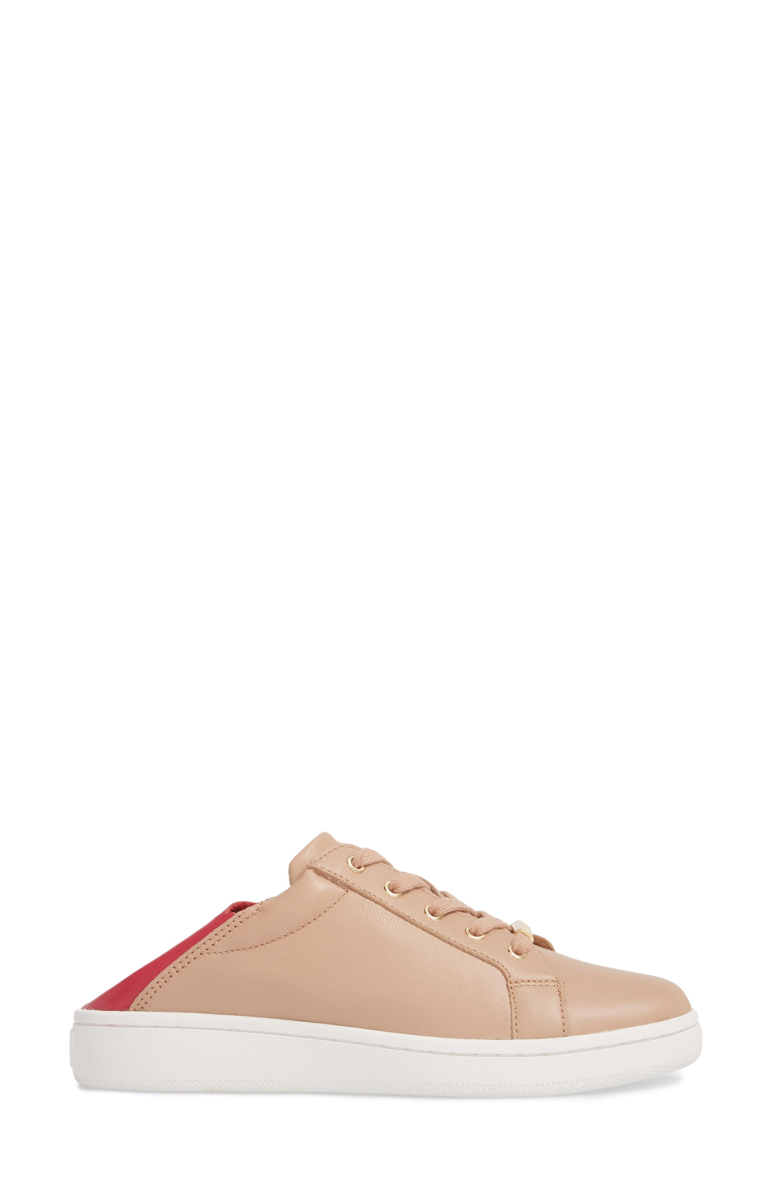 Danica Convertible Sneaker,                             Alternate thumbnail 4, color,                             Desert Sand Leather