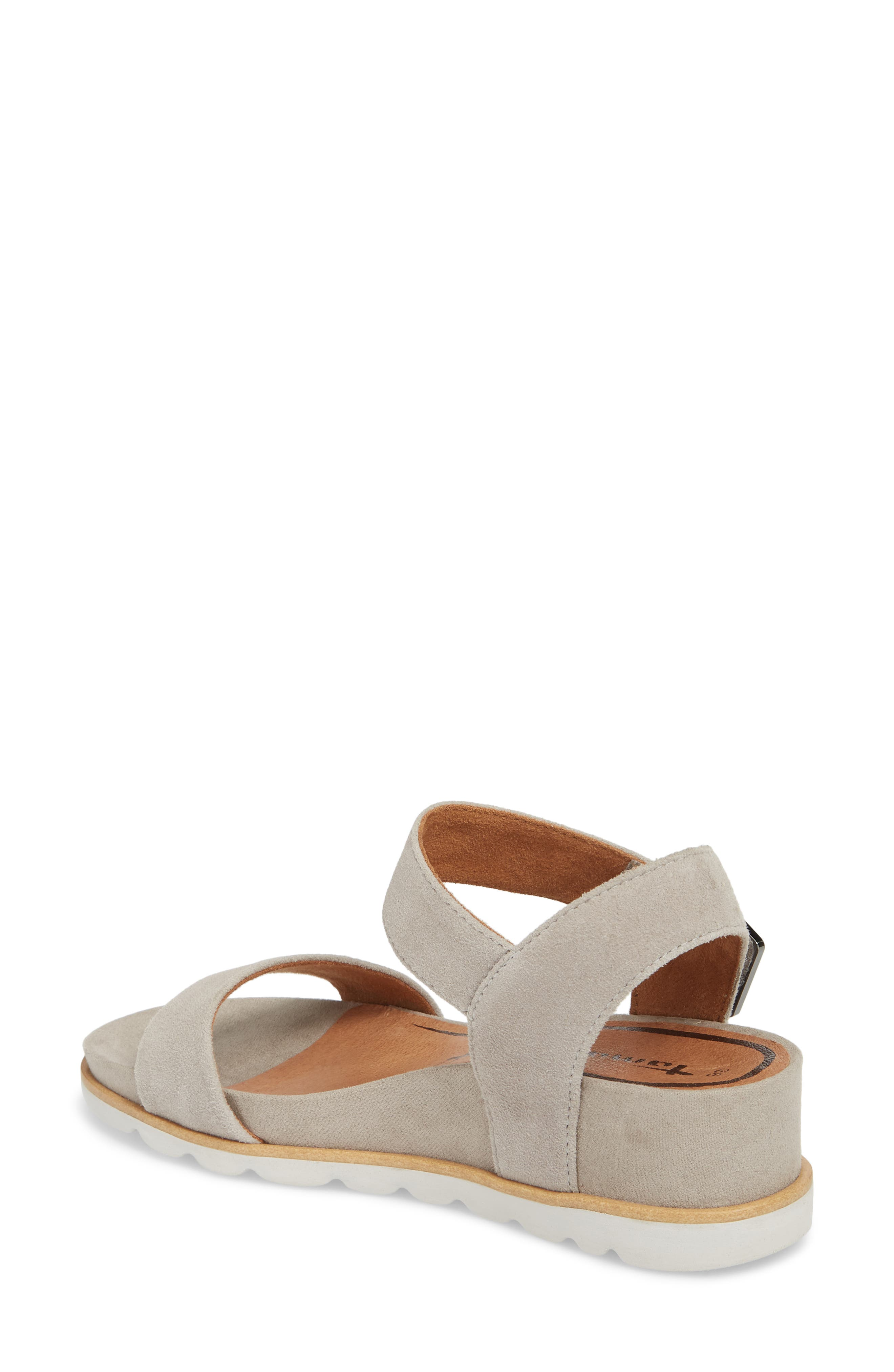 Cory Wedge Sandal,                             Alternate thumbnail 2, color,                             Cloud Suede
