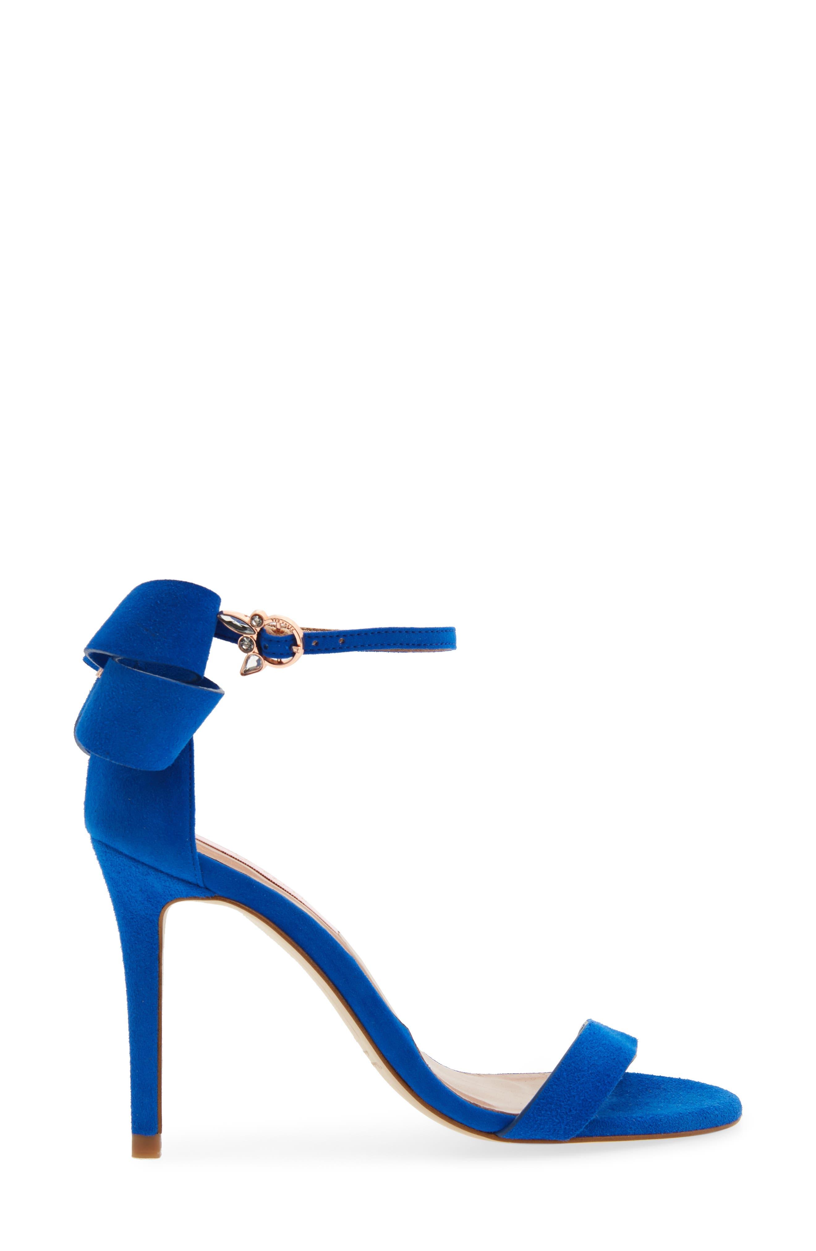 Sandas Sandal,                             Alternate thumbnail 3, color,                             Blue Suede