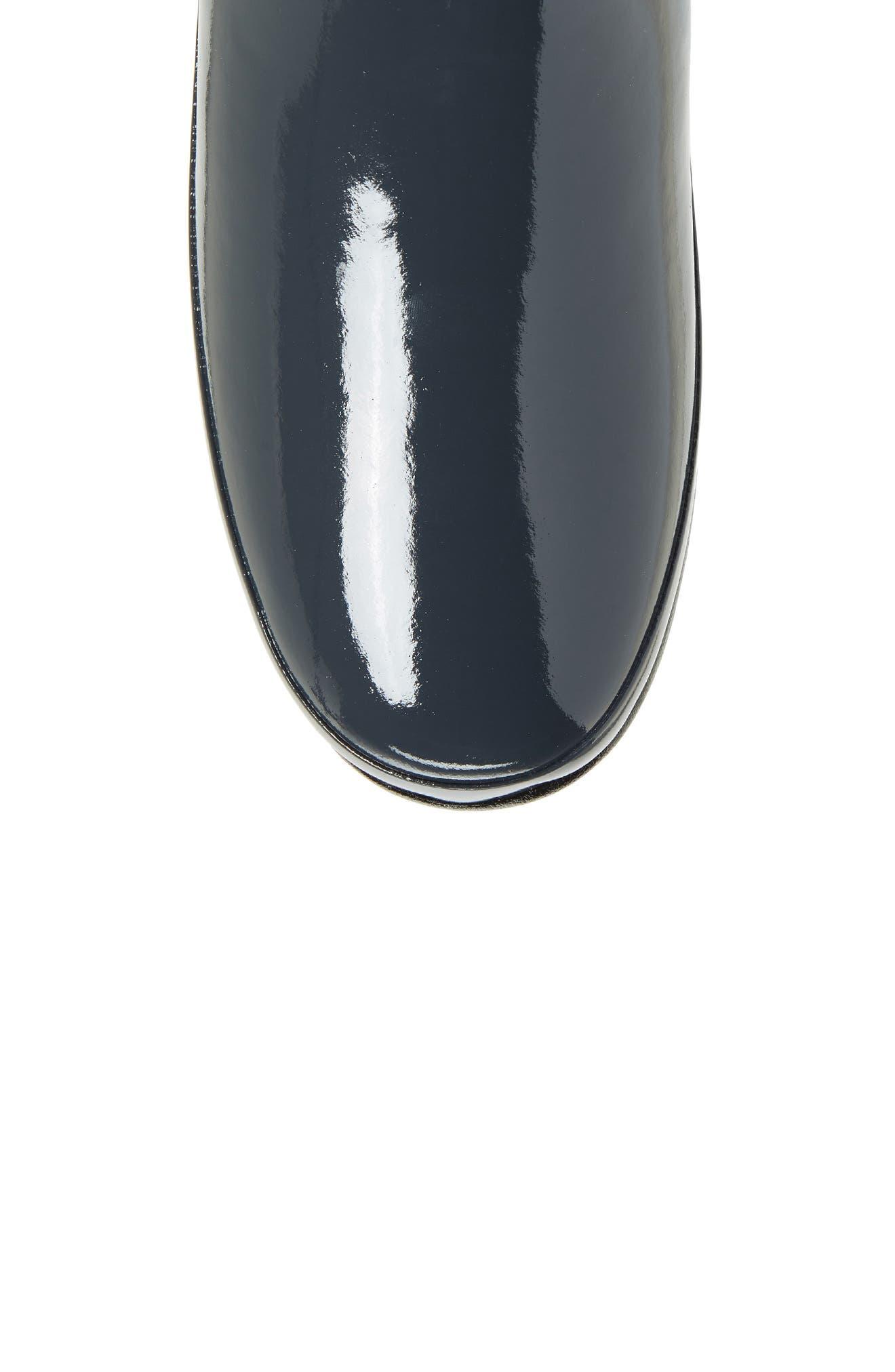 Refined High Gloss Quilted Short Rain Boot,                             Alternate thumbnail 5, color,                             Dark Slate