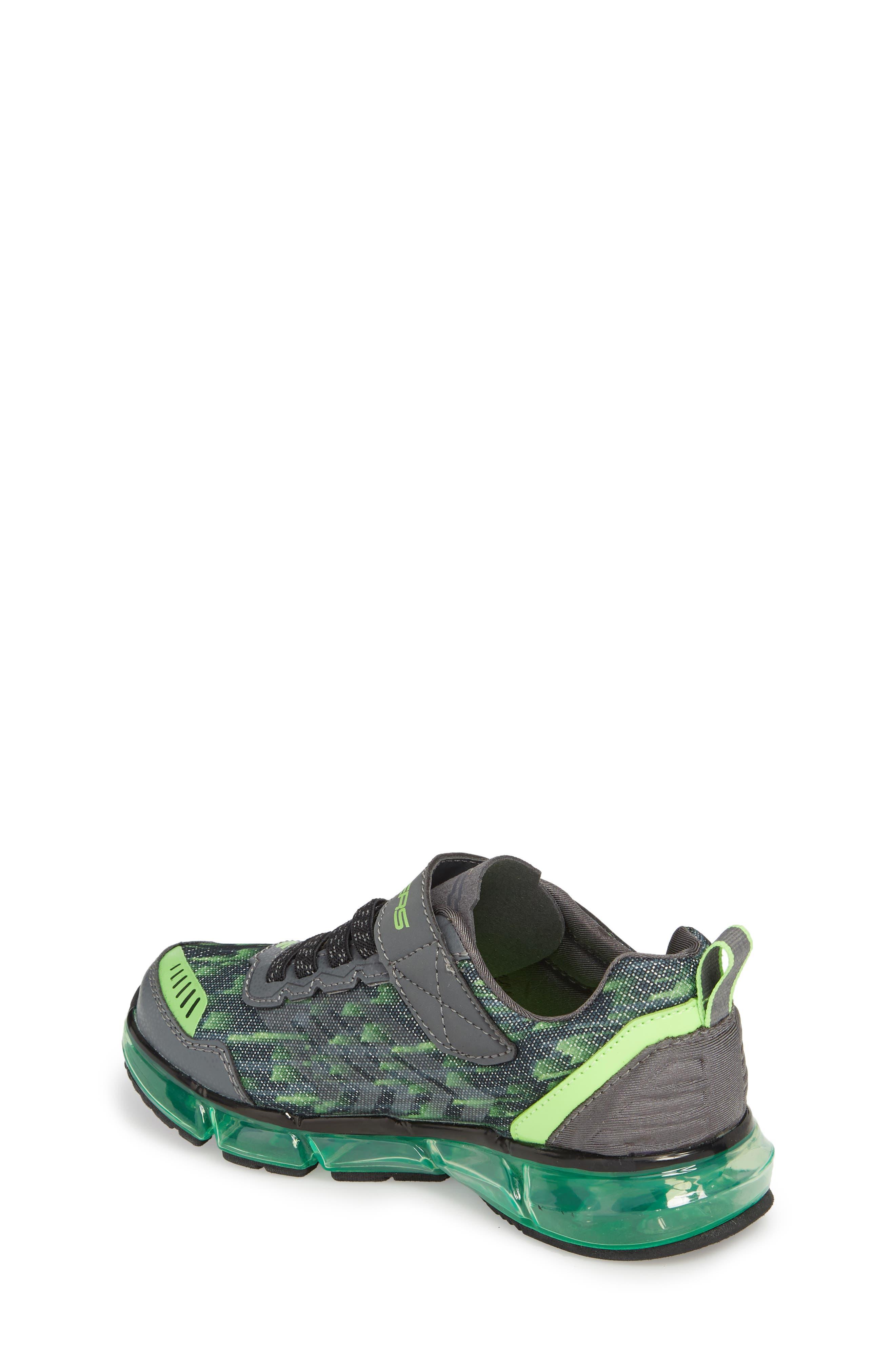 Skech-Air Mega Sneaker,                             Alternate thumbnail 2, color,                             Black/ Charcoal/ Lime