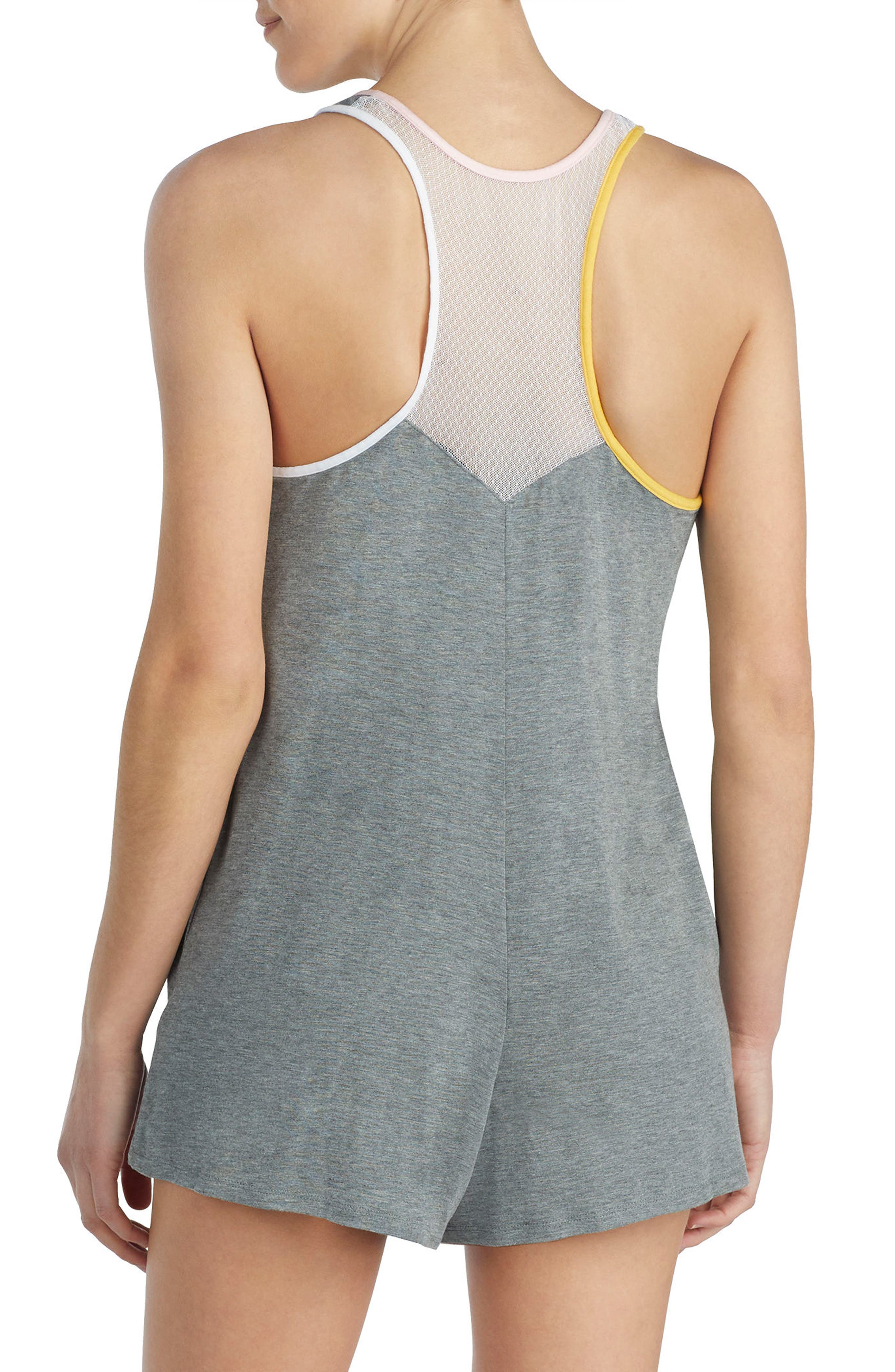 Modal Jersey Romper,                             Alternate thumbnail 2, color,                             Dark Heather Grey