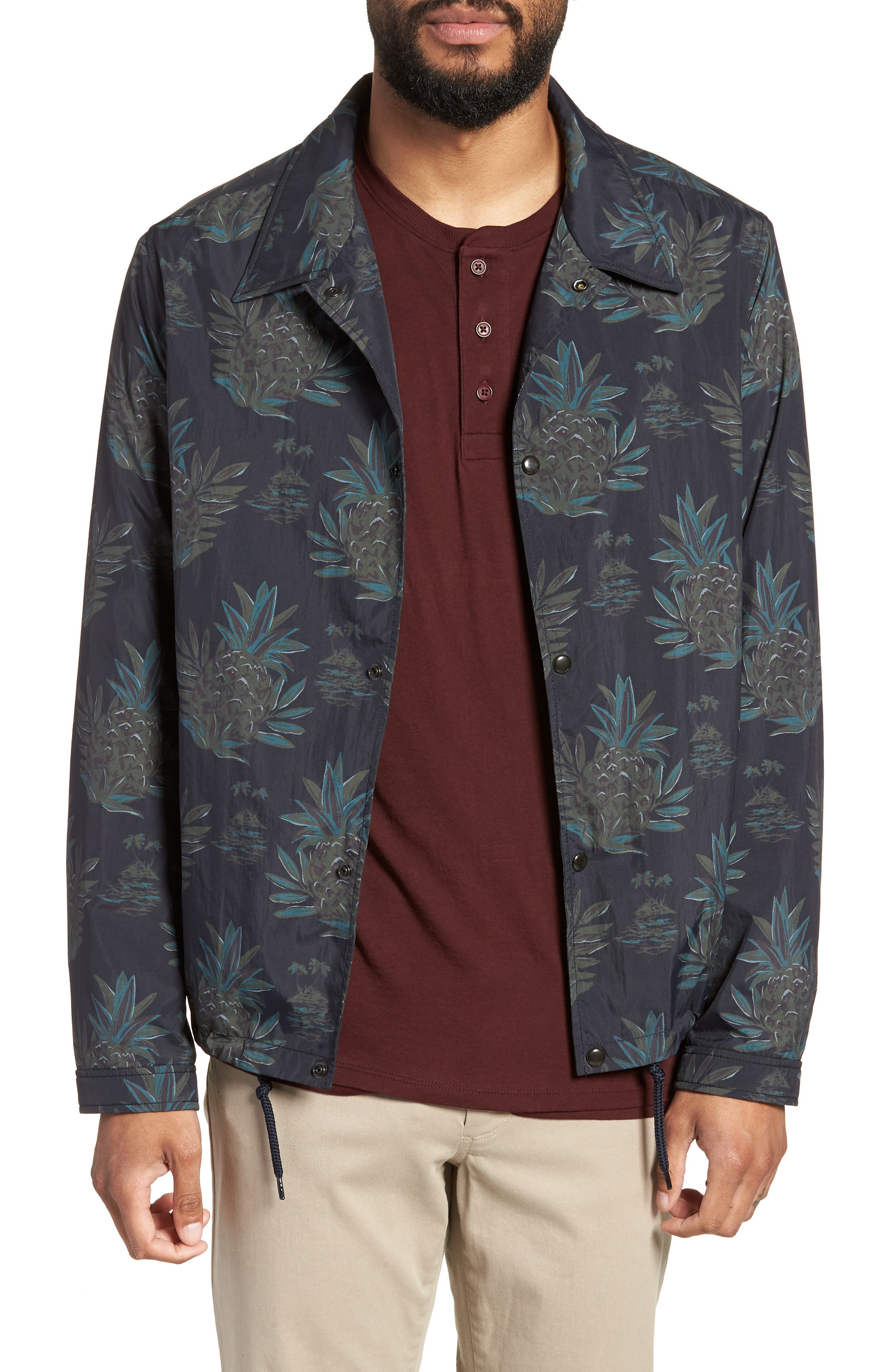Tropical Regular Fit Coach's Jacket,                             Main thumbnail 1, color,                             New Coastal