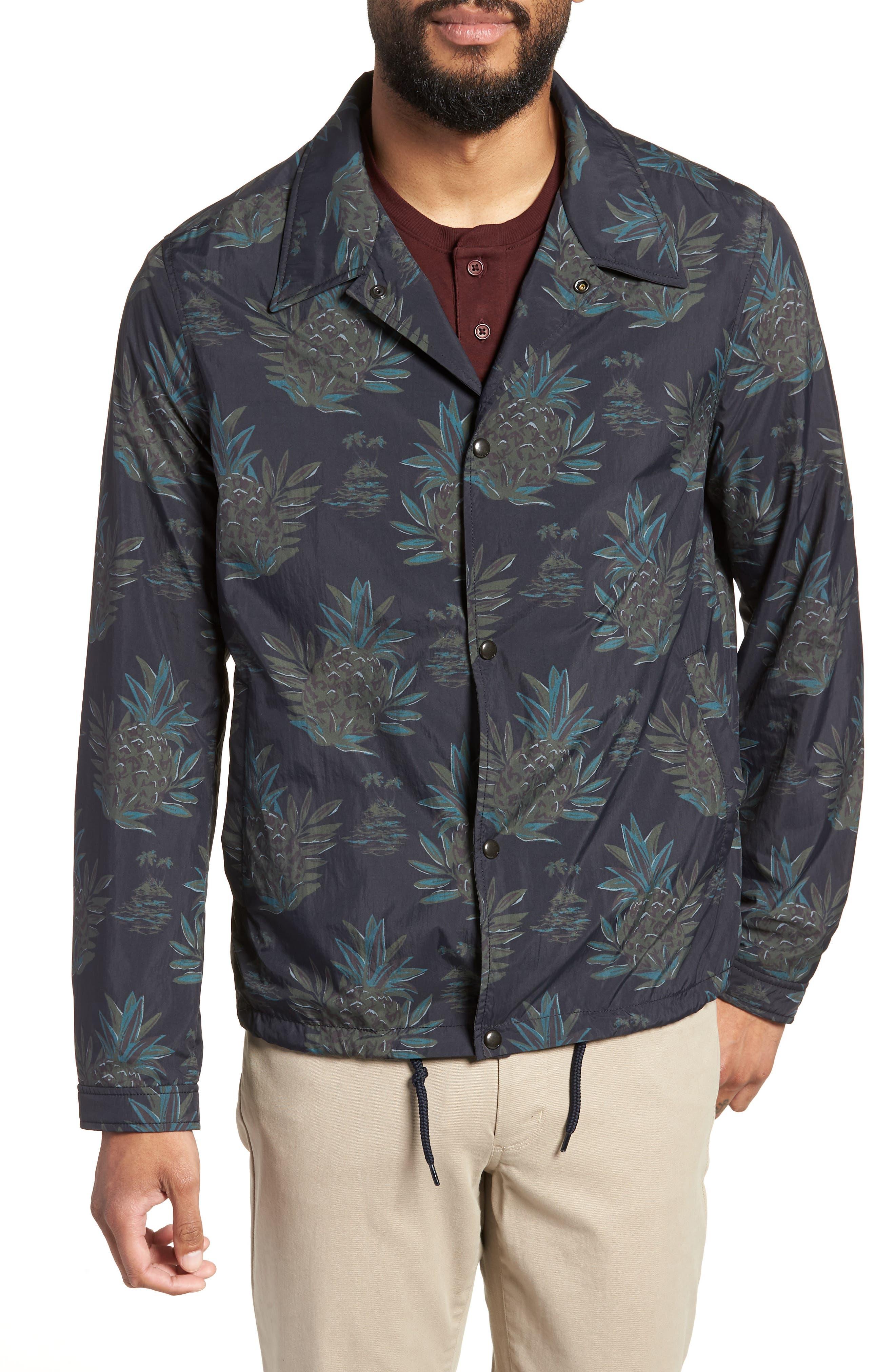 Tropical Regular Fit Coach's Jacket,                             Alternate thumbnail 5, color,                             New Coastal