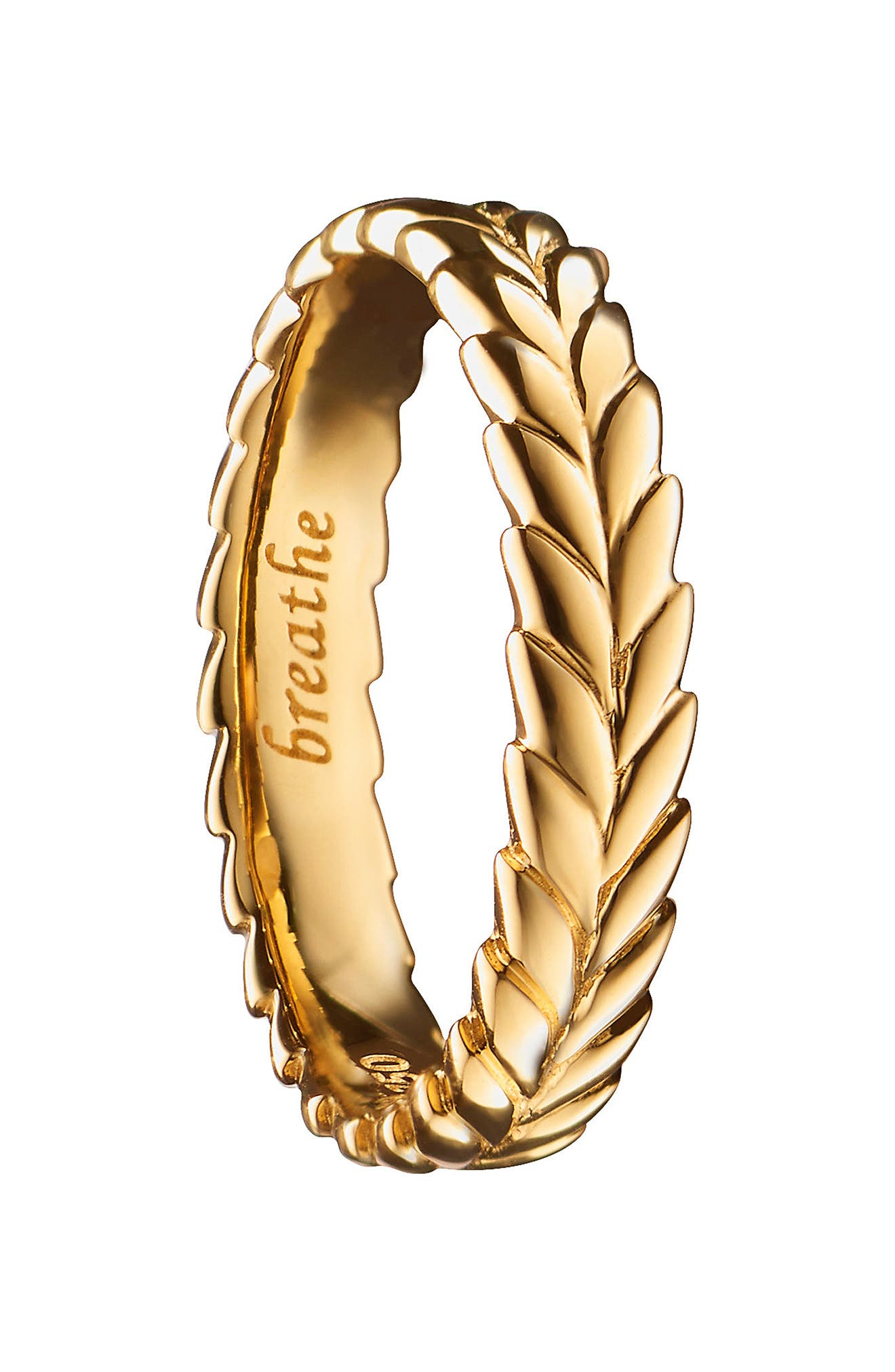 Breathe 18K Gold Poesy Ring Charm,                             Main thumbnail 1, color,                             18K Yellow Gold
