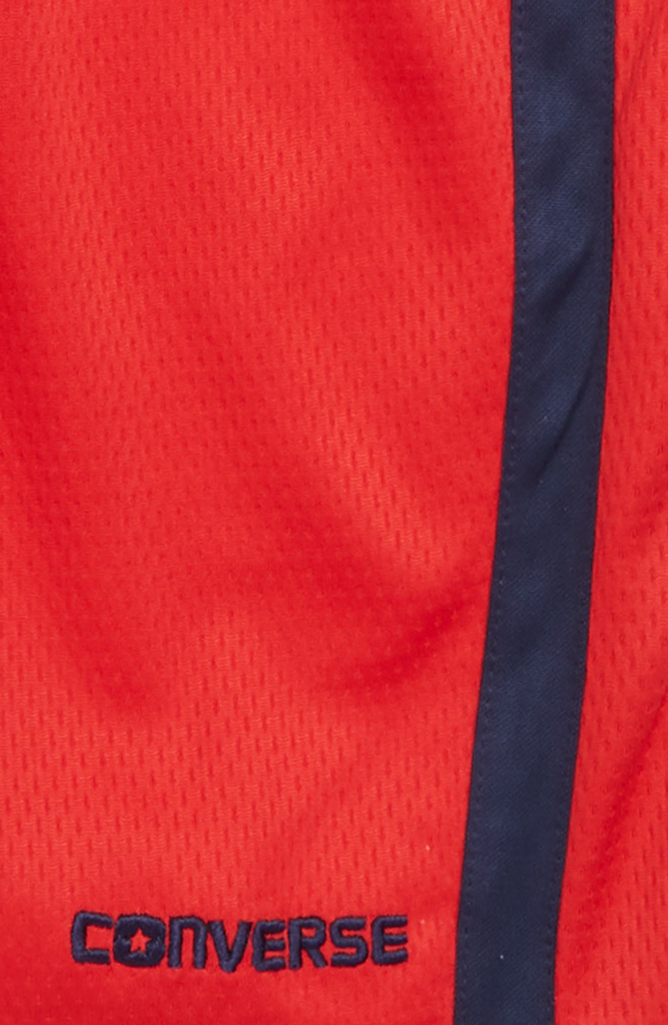 Stripe Mesh Shorts,                             Alternate thumbnail 2, color,                             Converse Red