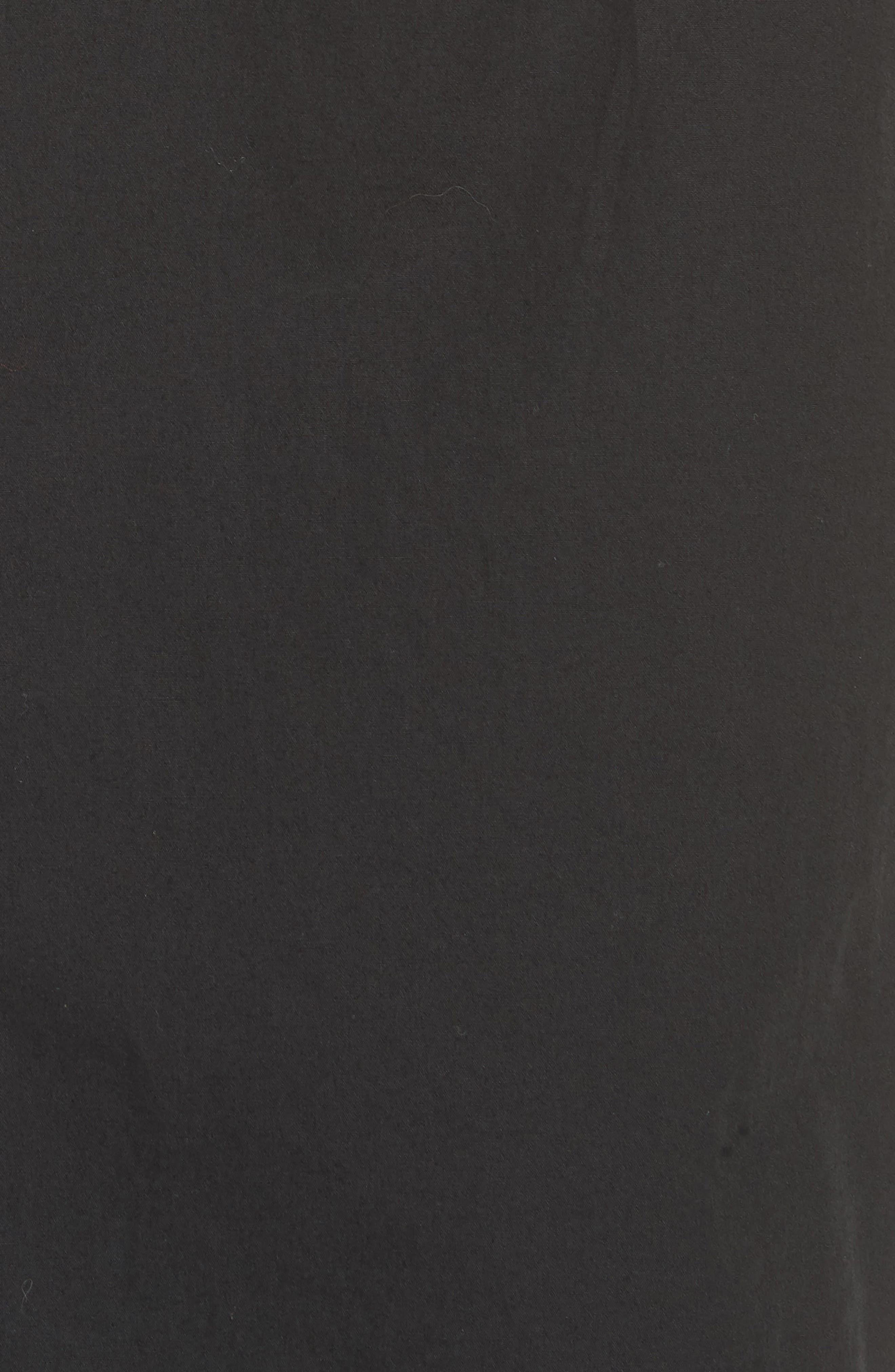 High Waist Wrap Skirt,                             Alternate thumbnail 5, color,                             Black