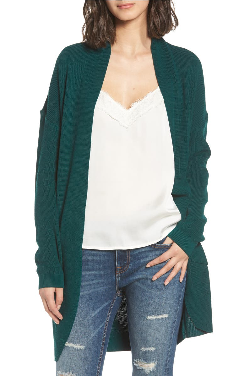 Cocoon Cardigan, Main, color, Green Botanical