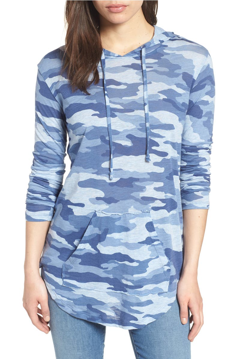 random finds from the #nsale, Avenue Camouflage Hoodie, Main, color, Light Chambray Heather