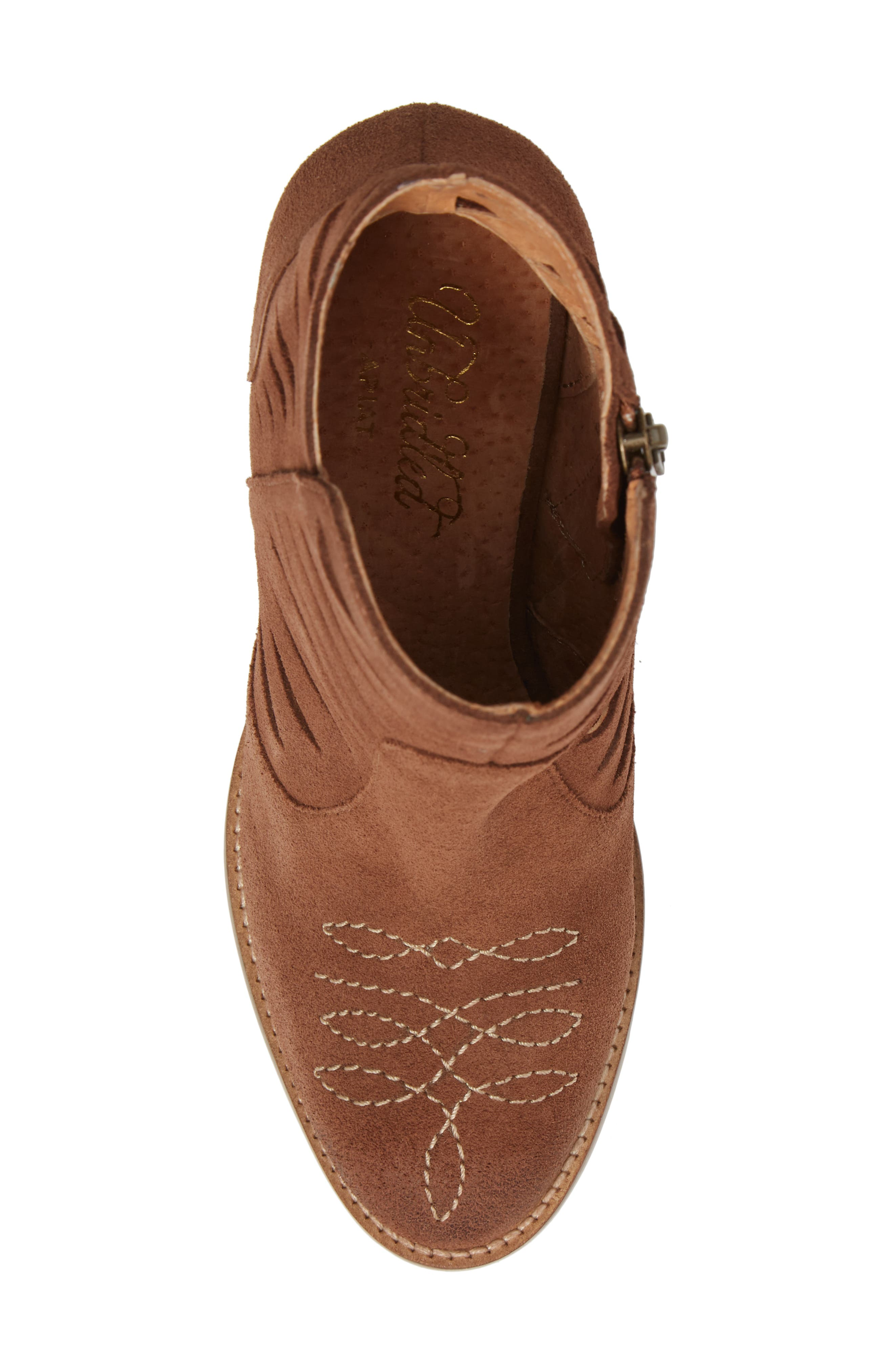 Adriana Western Bootie,                             Alternate thumbnail 5, color,                             Whiskey Suede