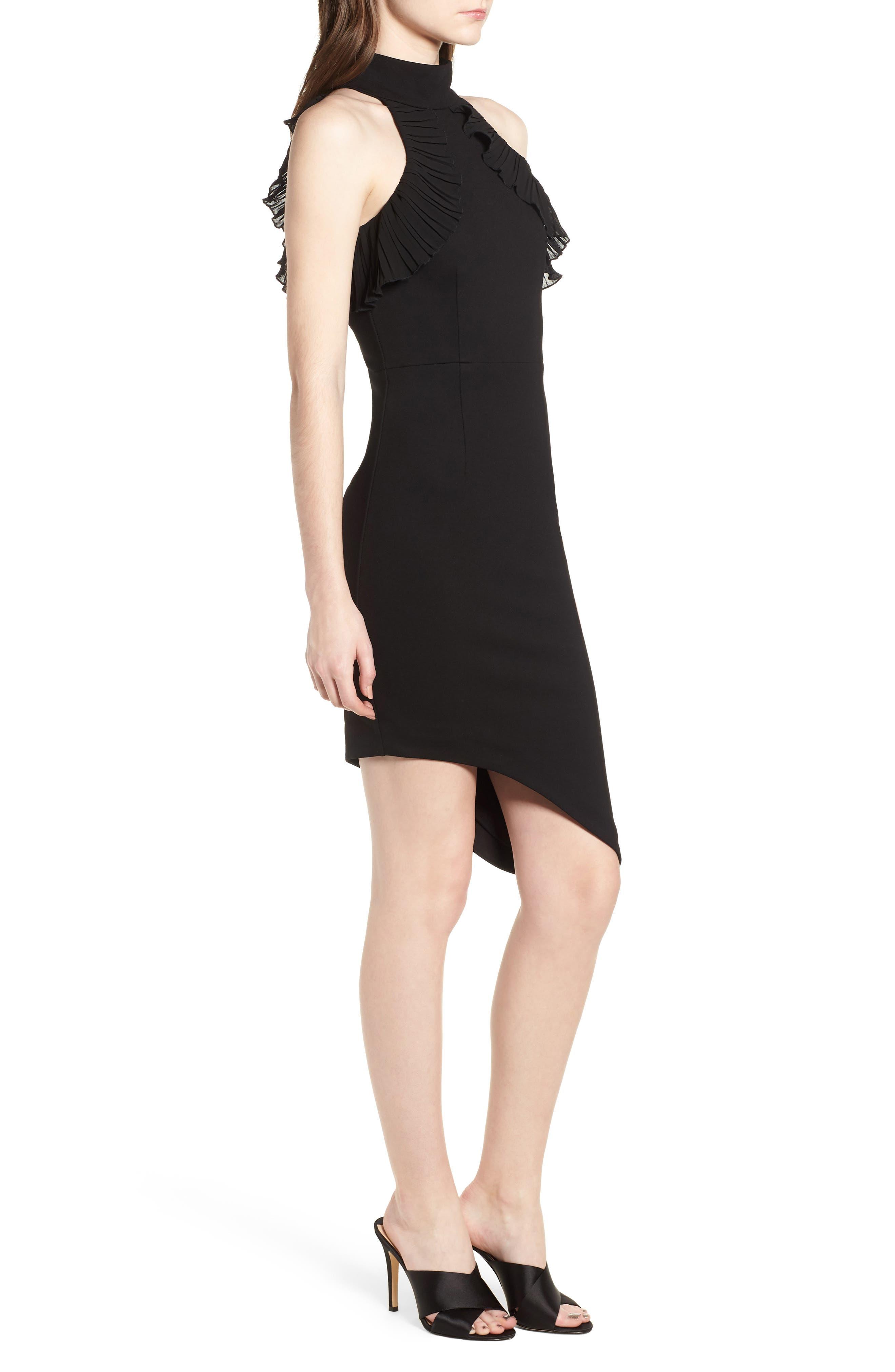 Exposition Dress,                             Alternate thumbnail 4, color,                             Black