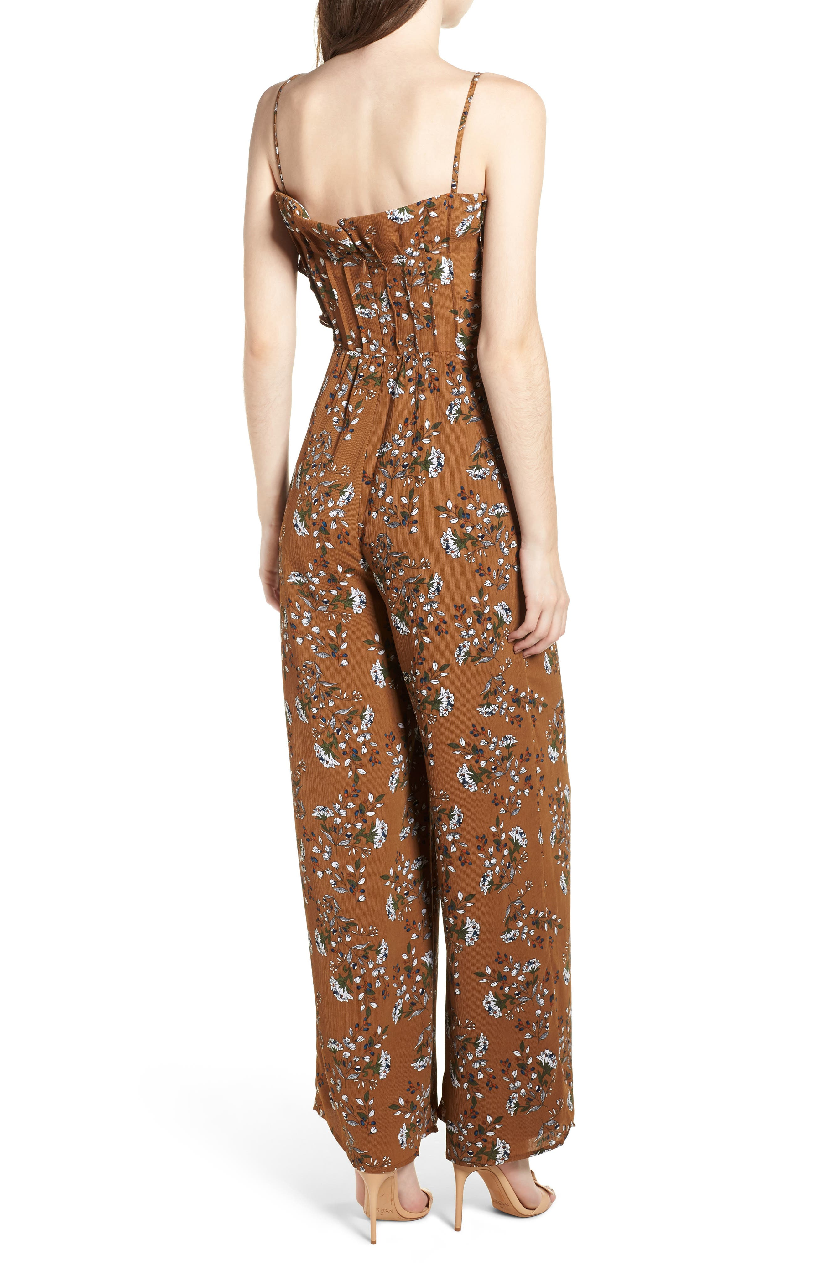 Melody Jumpsuit,                             Alternate thumbnail 3, color,                             Cocoa
