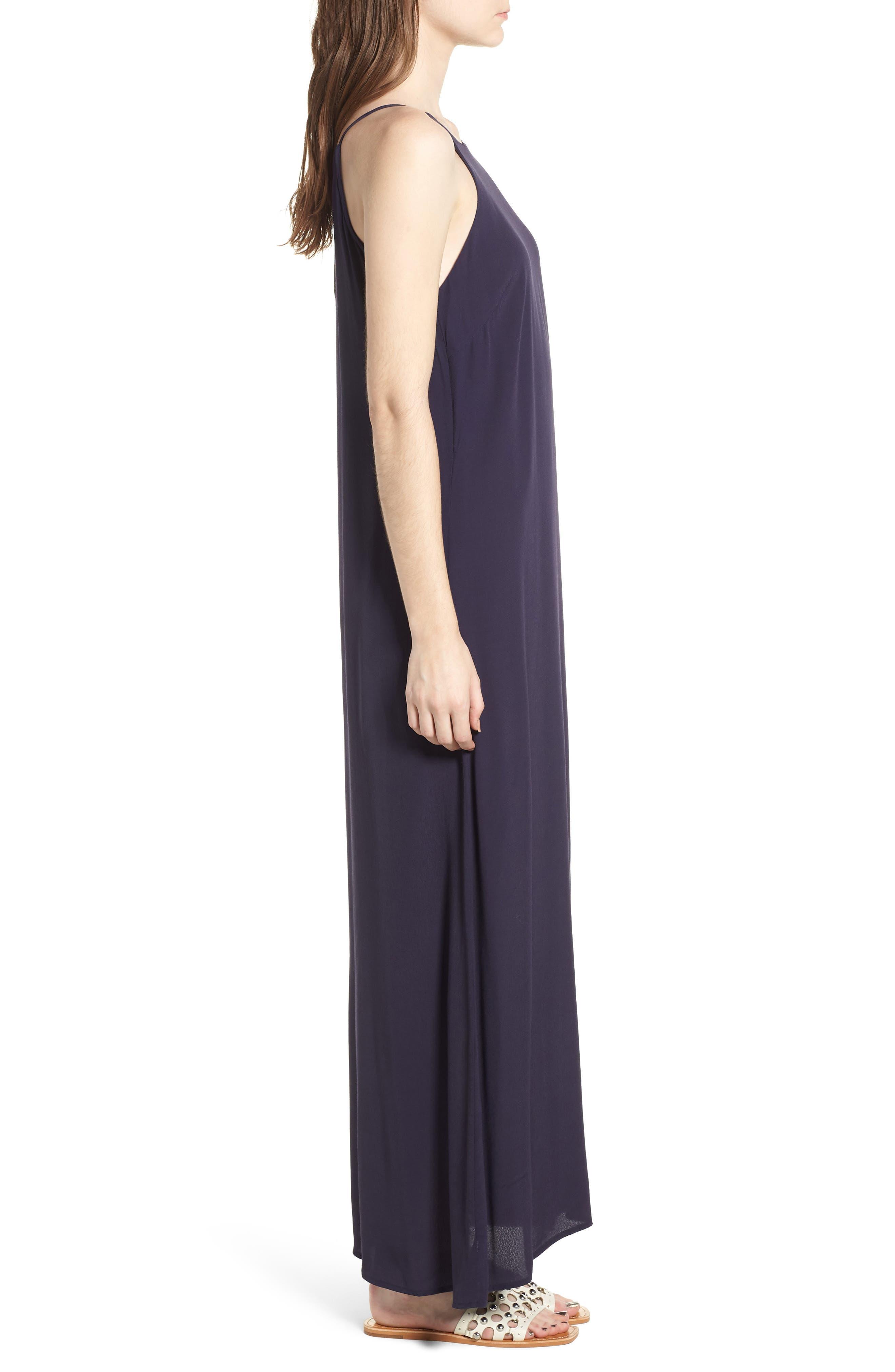 Maxi Dress,                             Alternate thumbnail 3, color,                             Navy