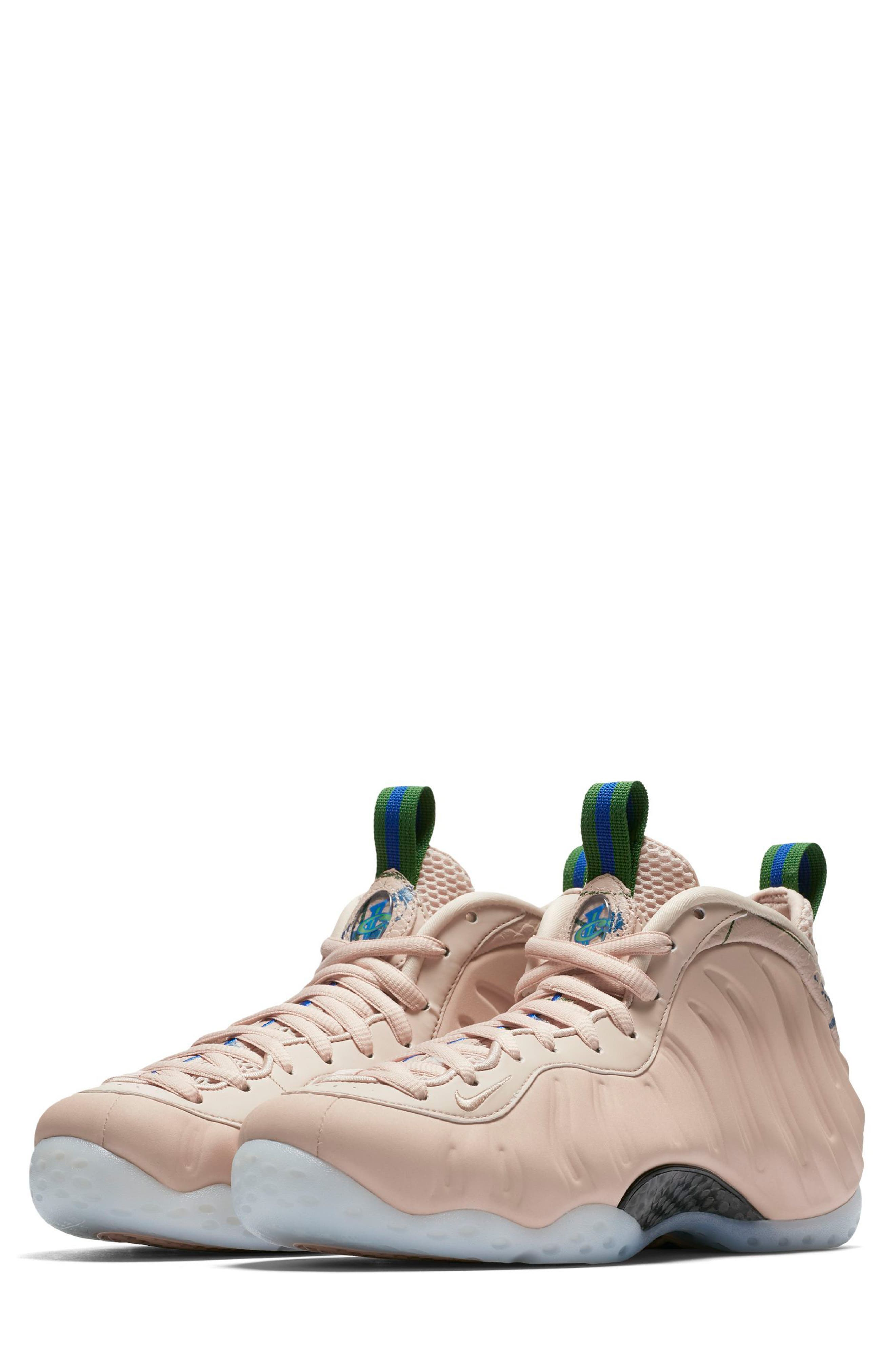 Air Foamposite One Sneaker,                             Main thumbnail 1, color,                             Particle Beige/ White
