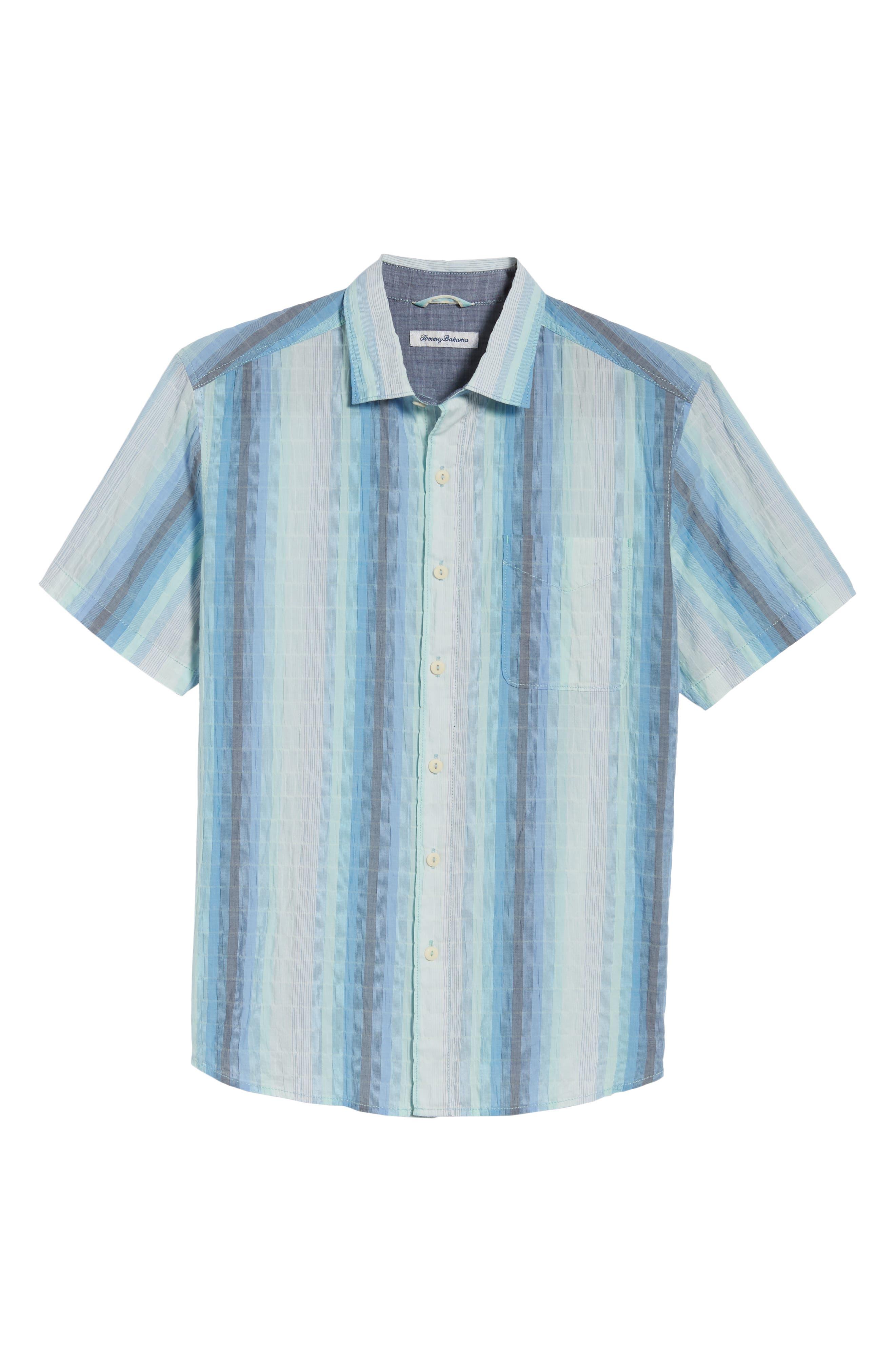 La Prisma Stripe Sport Shirt,                             Alternate thumbnail 6, color,                             Mint Mojito