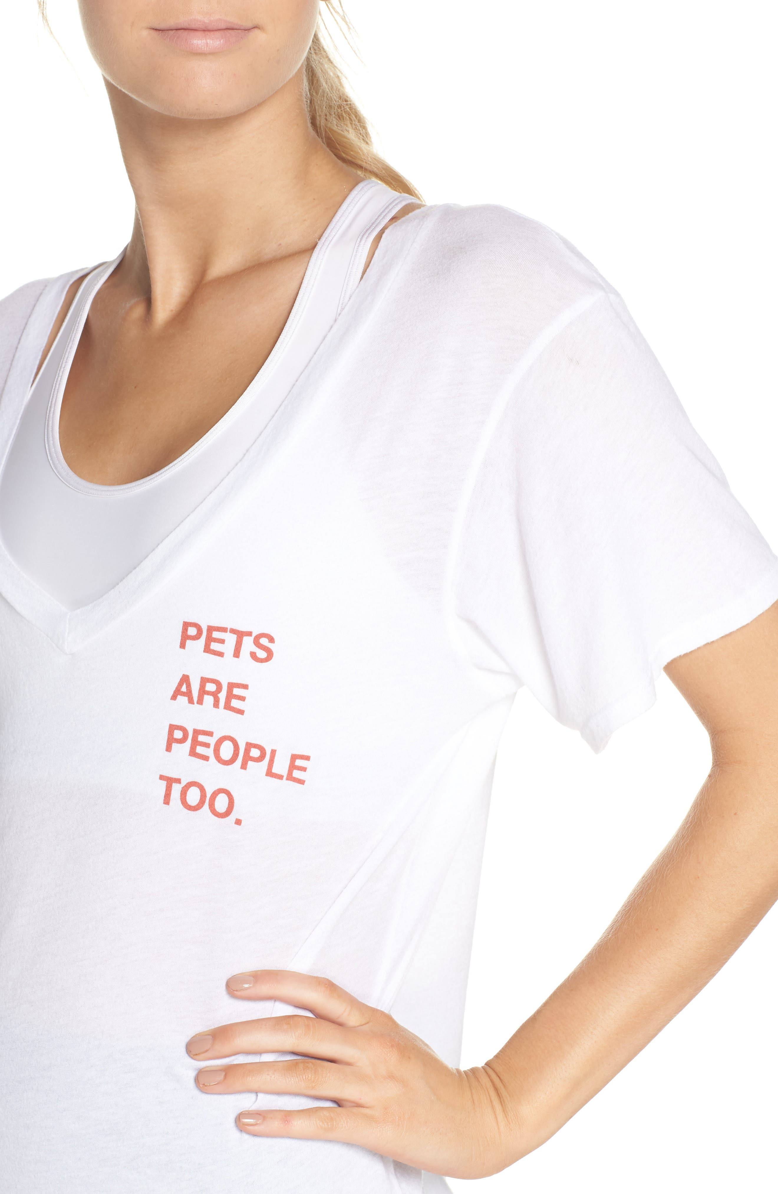 Aiden Pets Are People Tee,                             Alternate thumbnail 4, color,                             Optic White