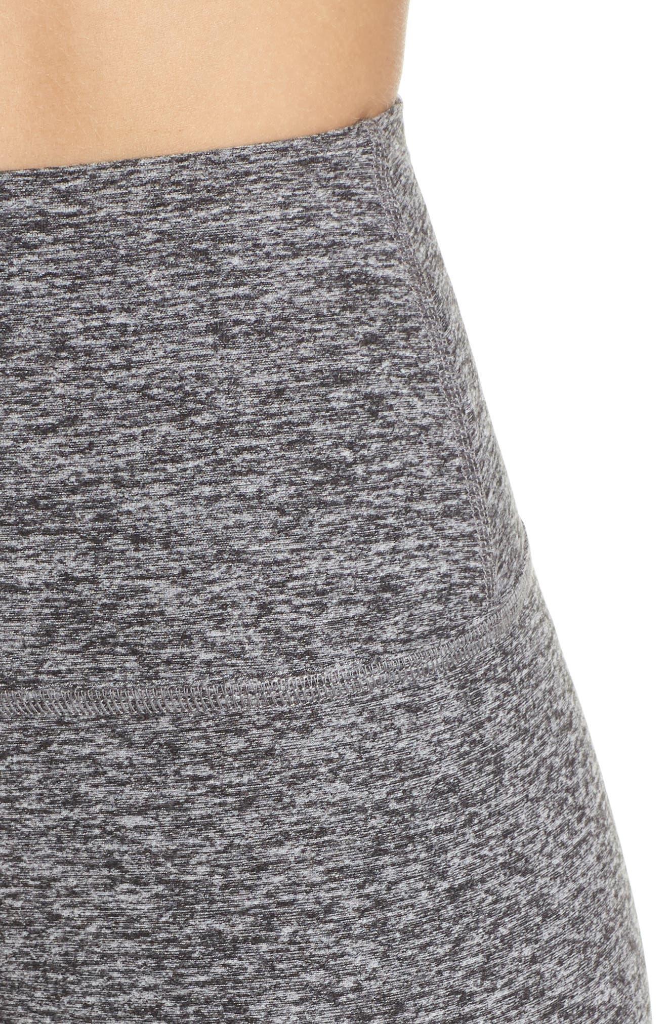 Midi High Waist Leggings,                             Alternate thumbnail 4, color,                             Black Charcoal