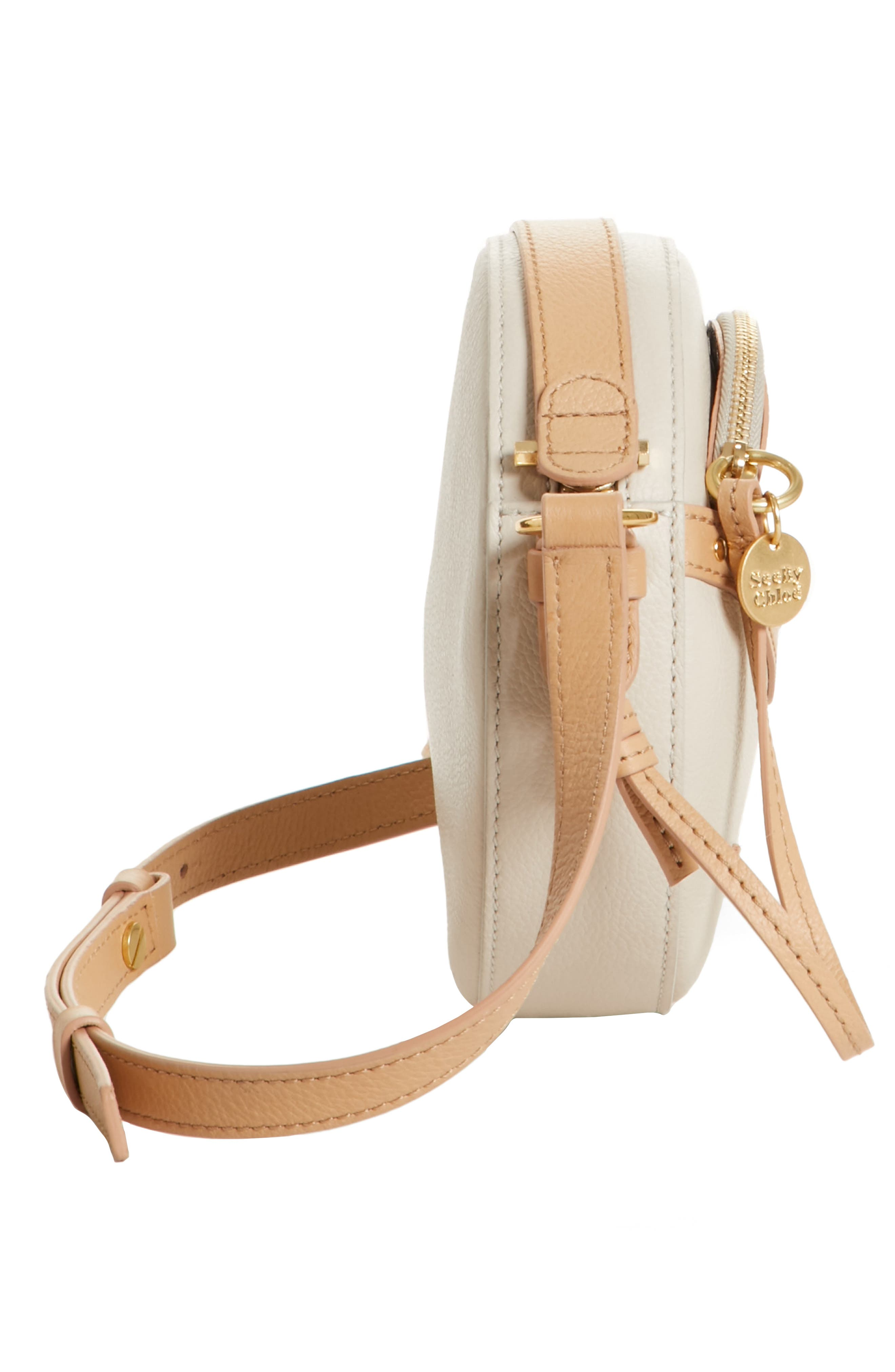 Rosy Mini Leather Crossbody Bag with Faux Snakeskin,                             Alternate thumbnail 5, color,                             Cement Beige