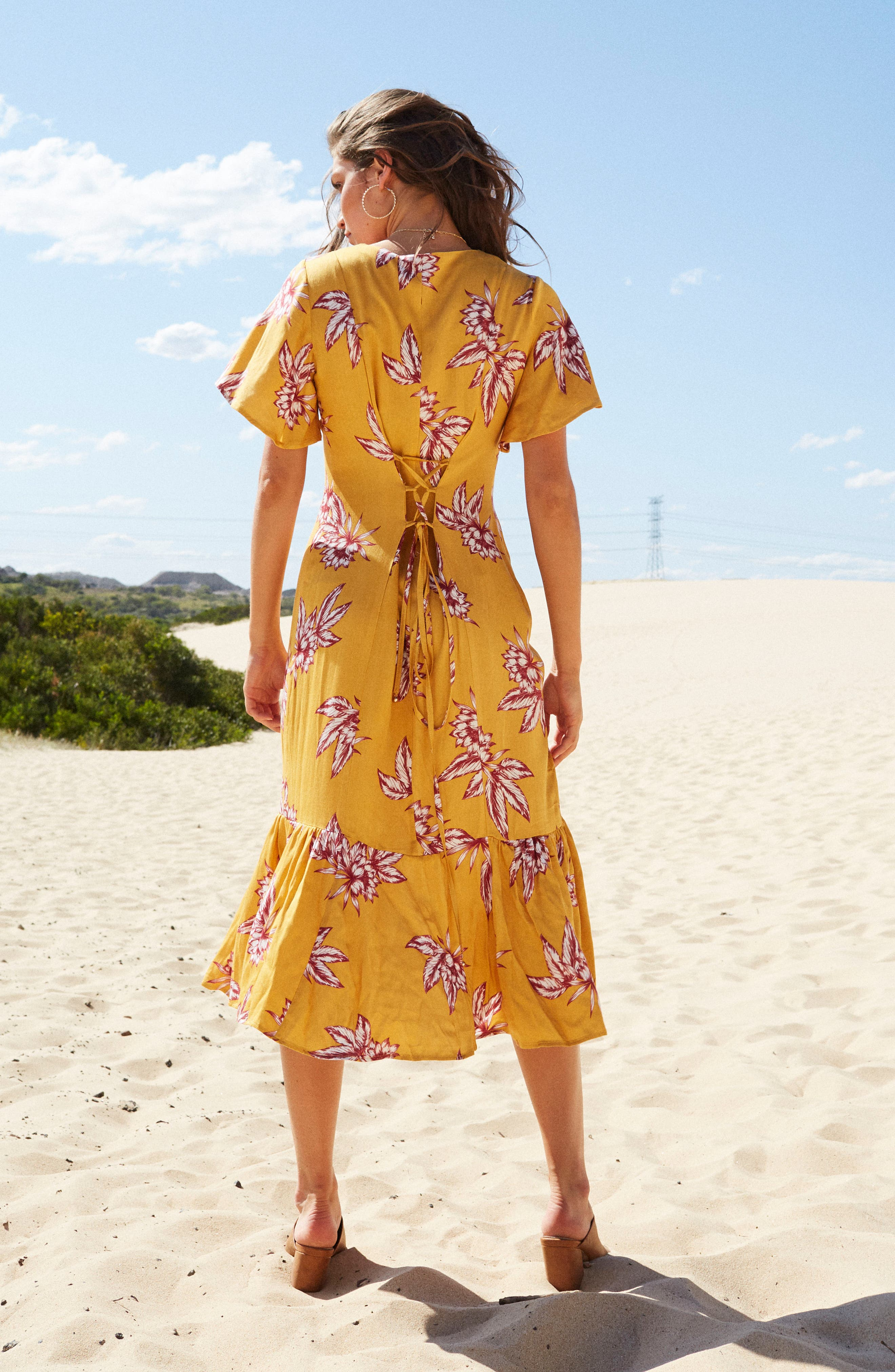 Searing Soul Midi Dress,                             Alternate thumbnail 9, color,                             Multi
