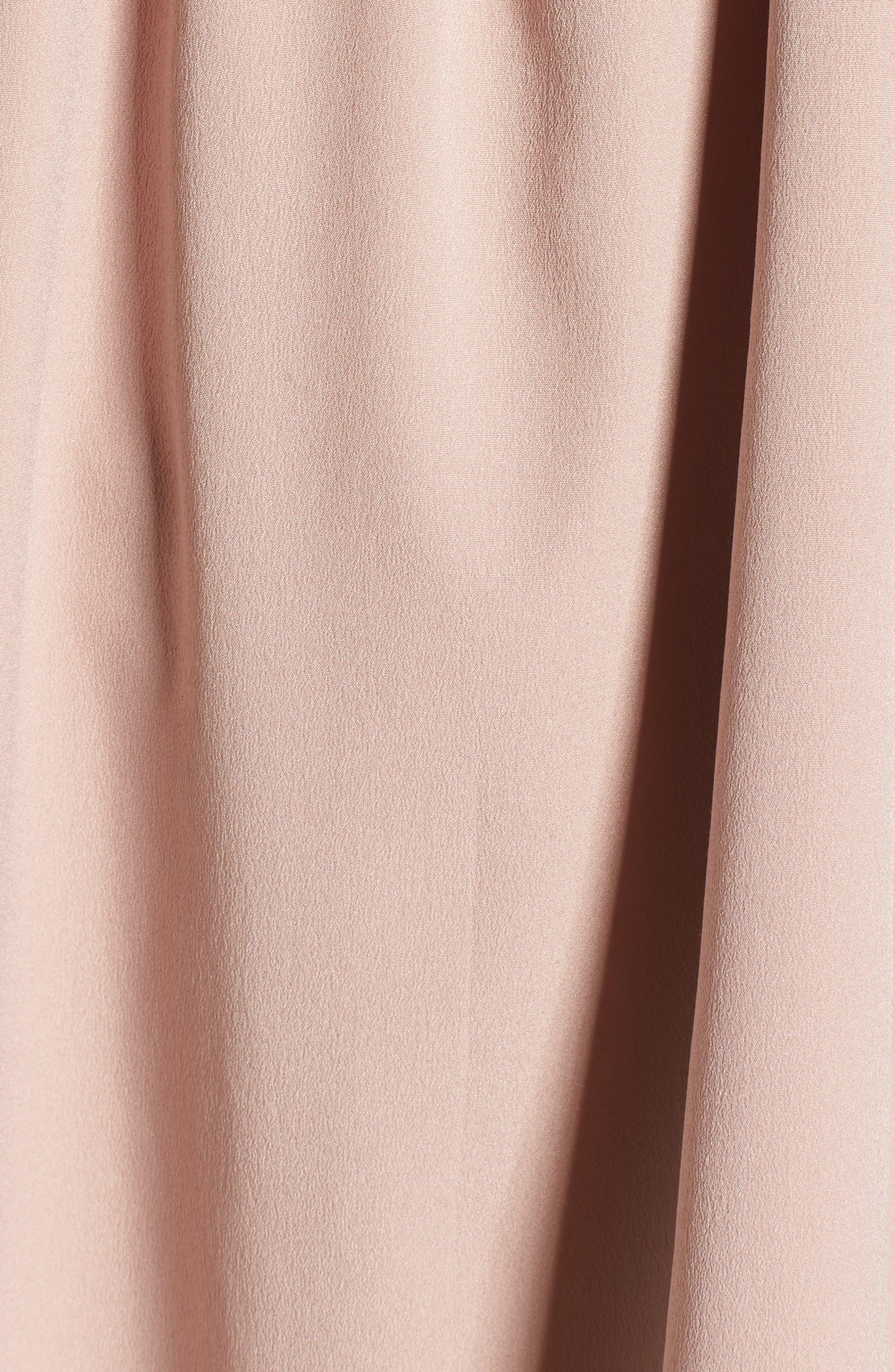 Lace Yoke Top,                             Alternate thumbnail 6, color,                             Pink Adobe