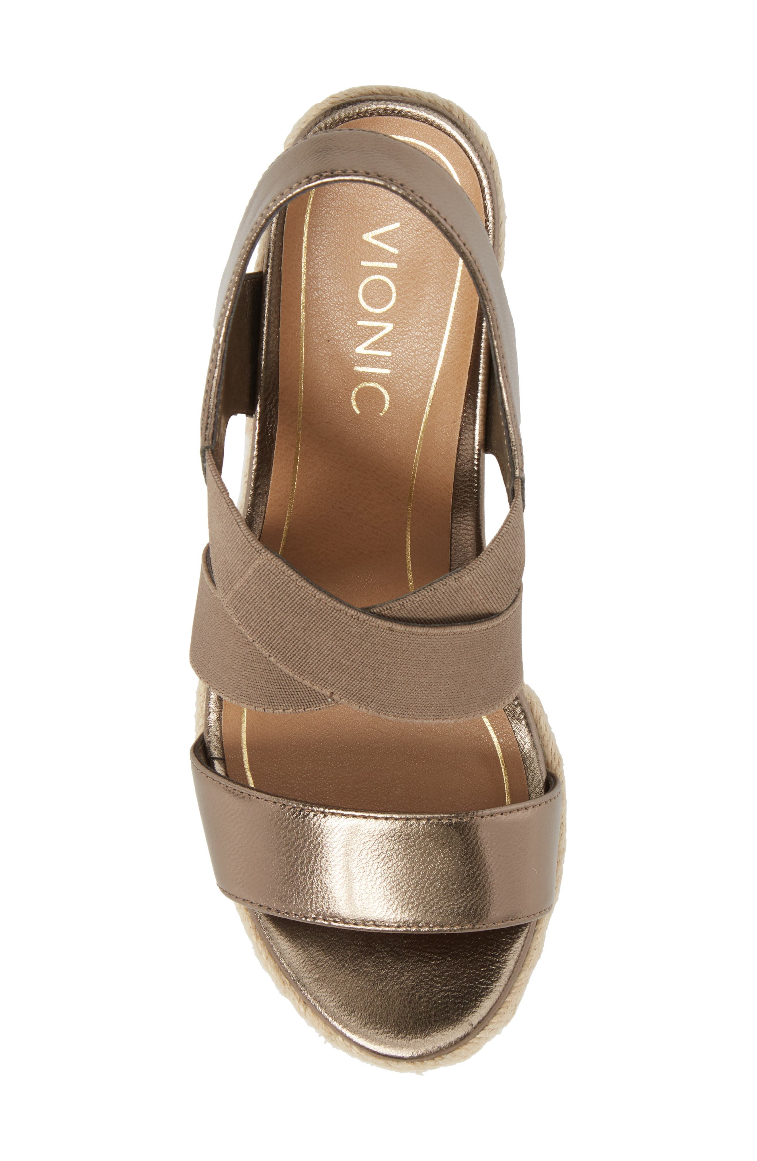 Ainsleigh Wedge Sandal,                             Alternate thumbnail 5, color,                             Dark Taupe Leather