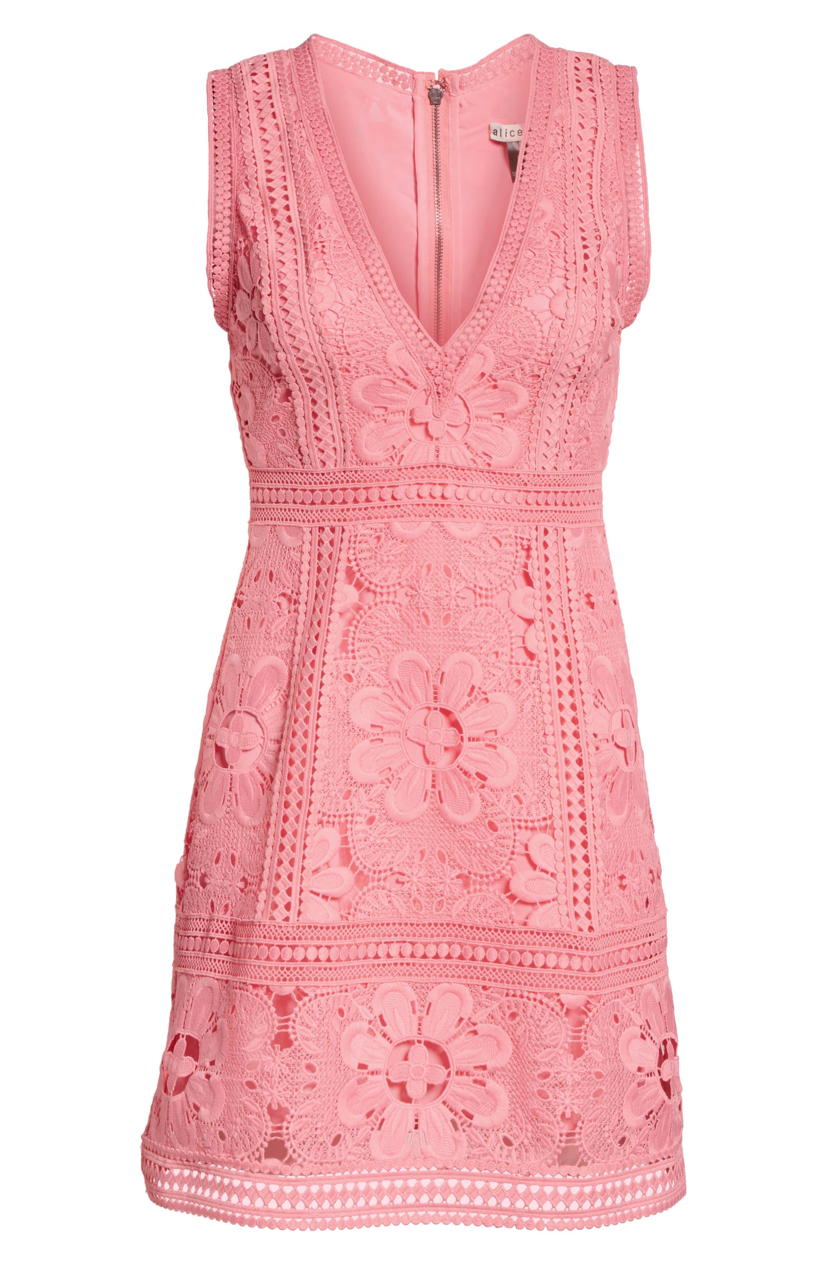Zula Lace Minidress,                             Alternate thumbnail 6, color,                             Blossom
