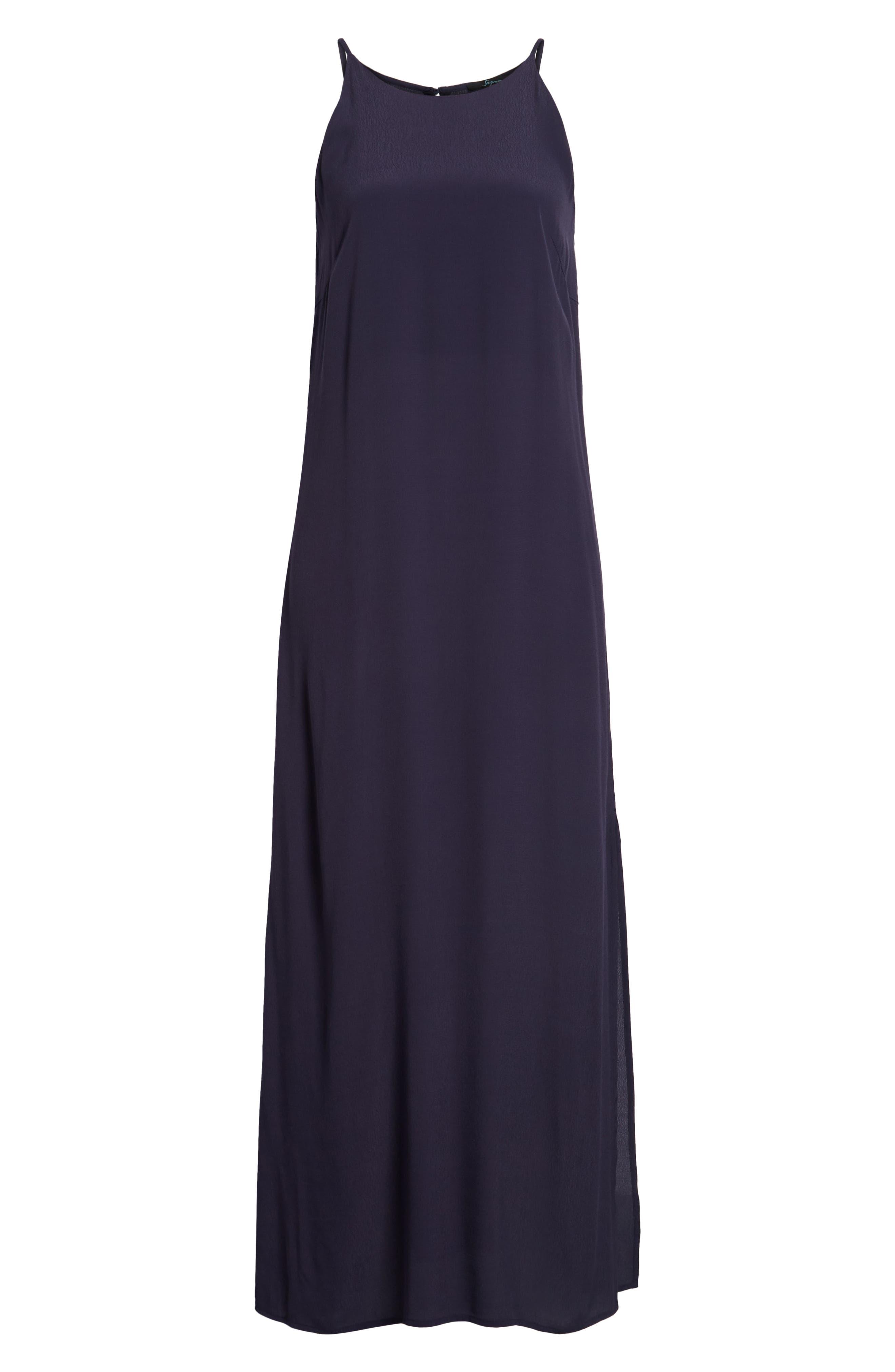 Maxi Dress,                             Alternate thumbnail 7, color,                             Navy