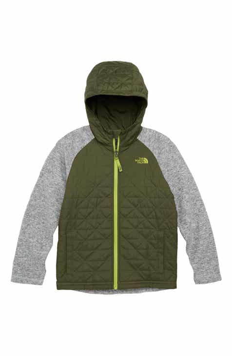 4f5023ad175f The North Face Water Repellent Quilted Sweater Fleece Hoodie (Big Boys)
