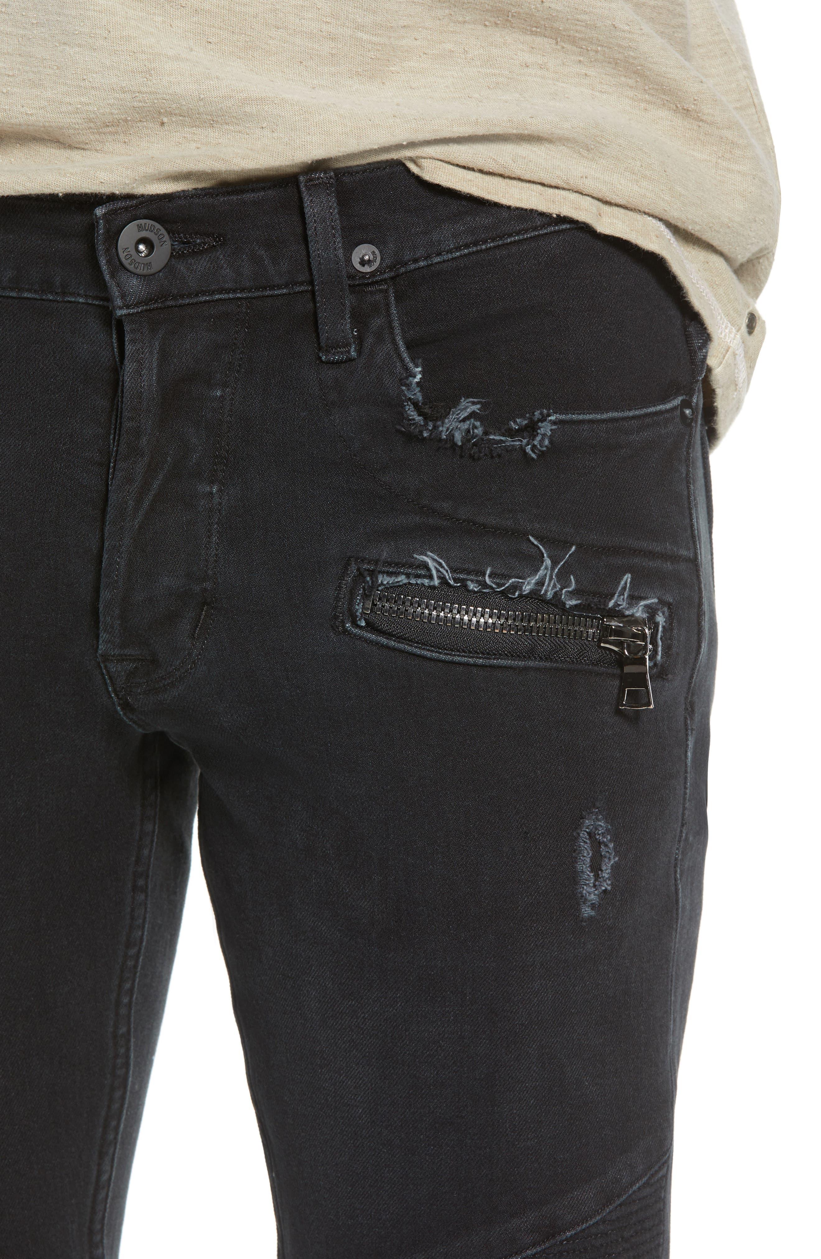 Blinder Biker Cutoff Shorts,                             Alternate thumbnail 4, color,                             Fade Away