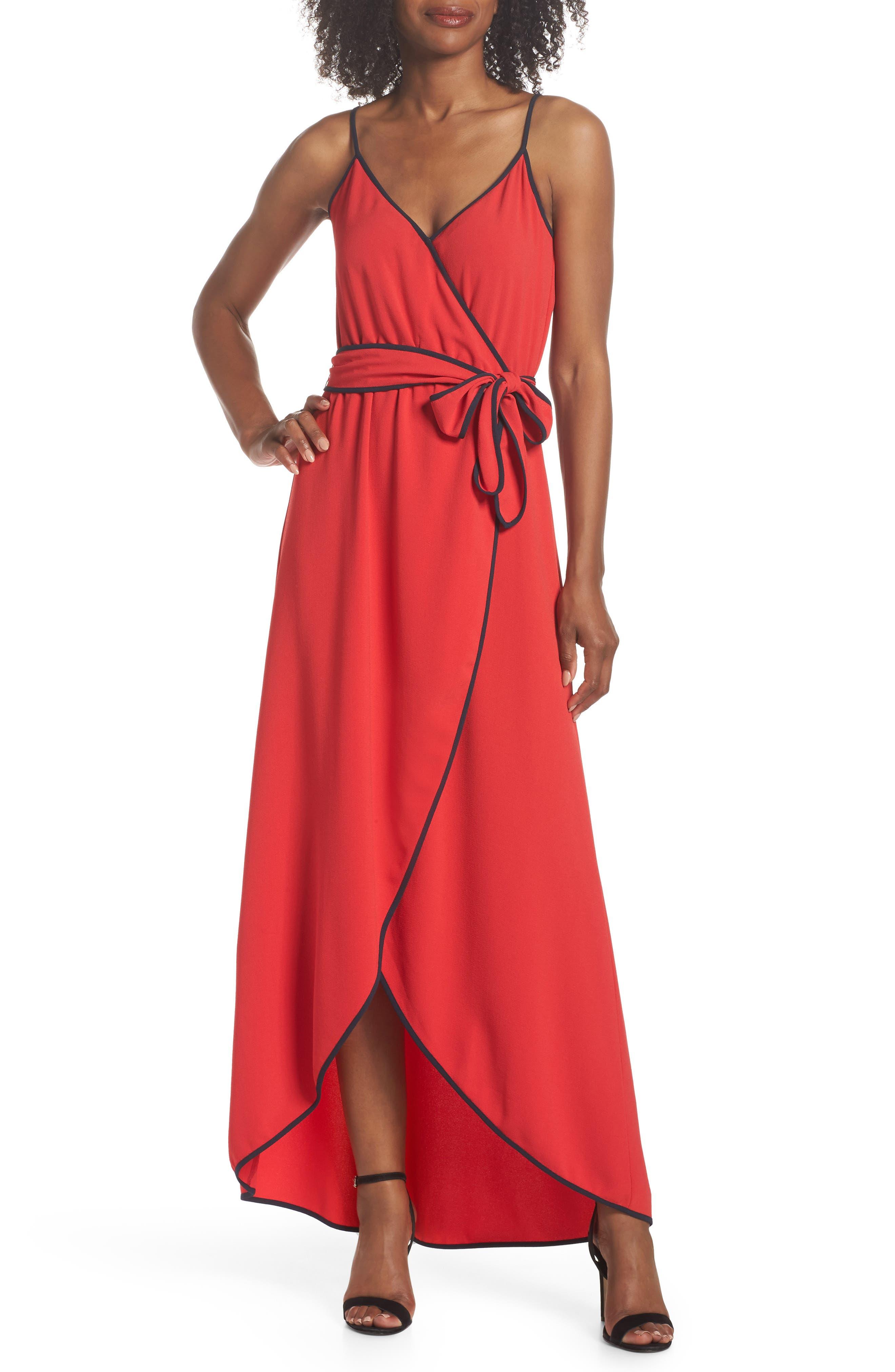 Felicity & Coco Becca Faux Wrap Maxi Dress (Regular & Petite)