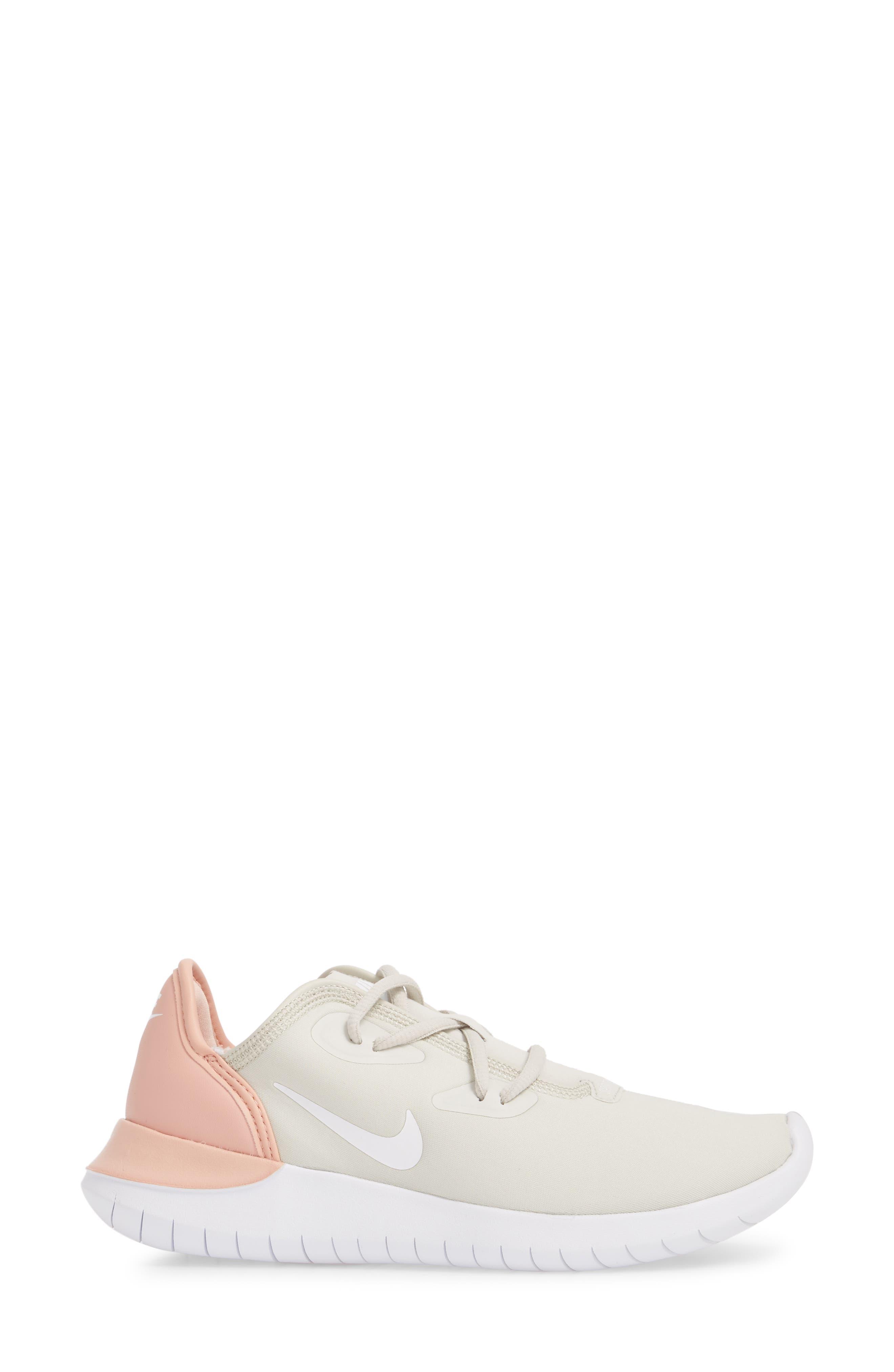 Hakata Sneaker,                             Alternate thumbnail 3, color,                             Light Bone/ White/ Coral