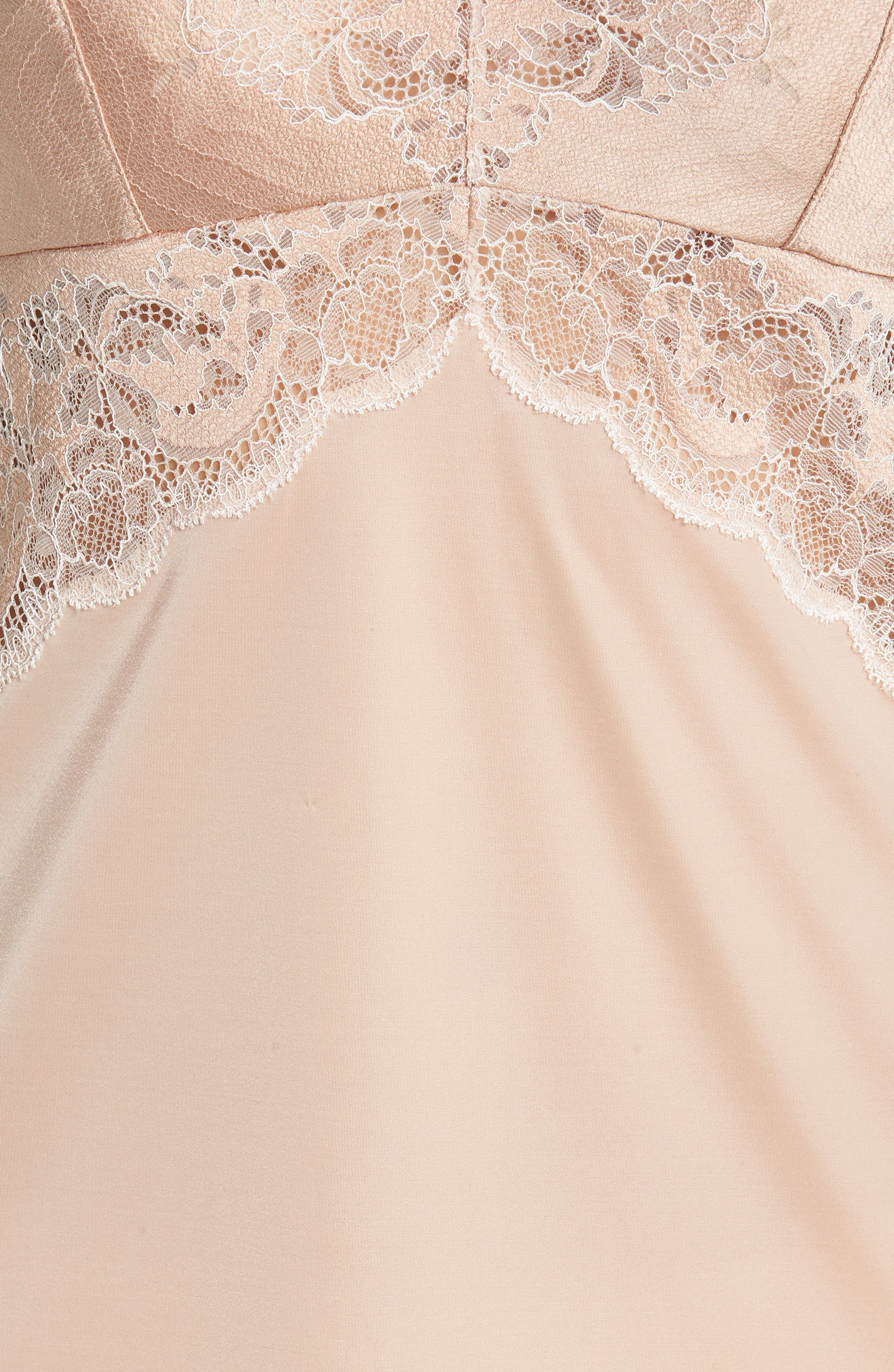 Lace Affair Chemise,                             Alternate thumbnail 6, color,                             Rose Dust/ Angel Wing