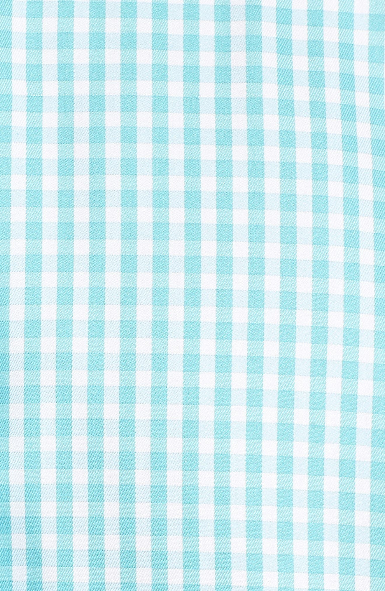 Crown Soft Northgate Gingham Sport Shirt,                             Alternate thumbnail 5, color,                             Opal