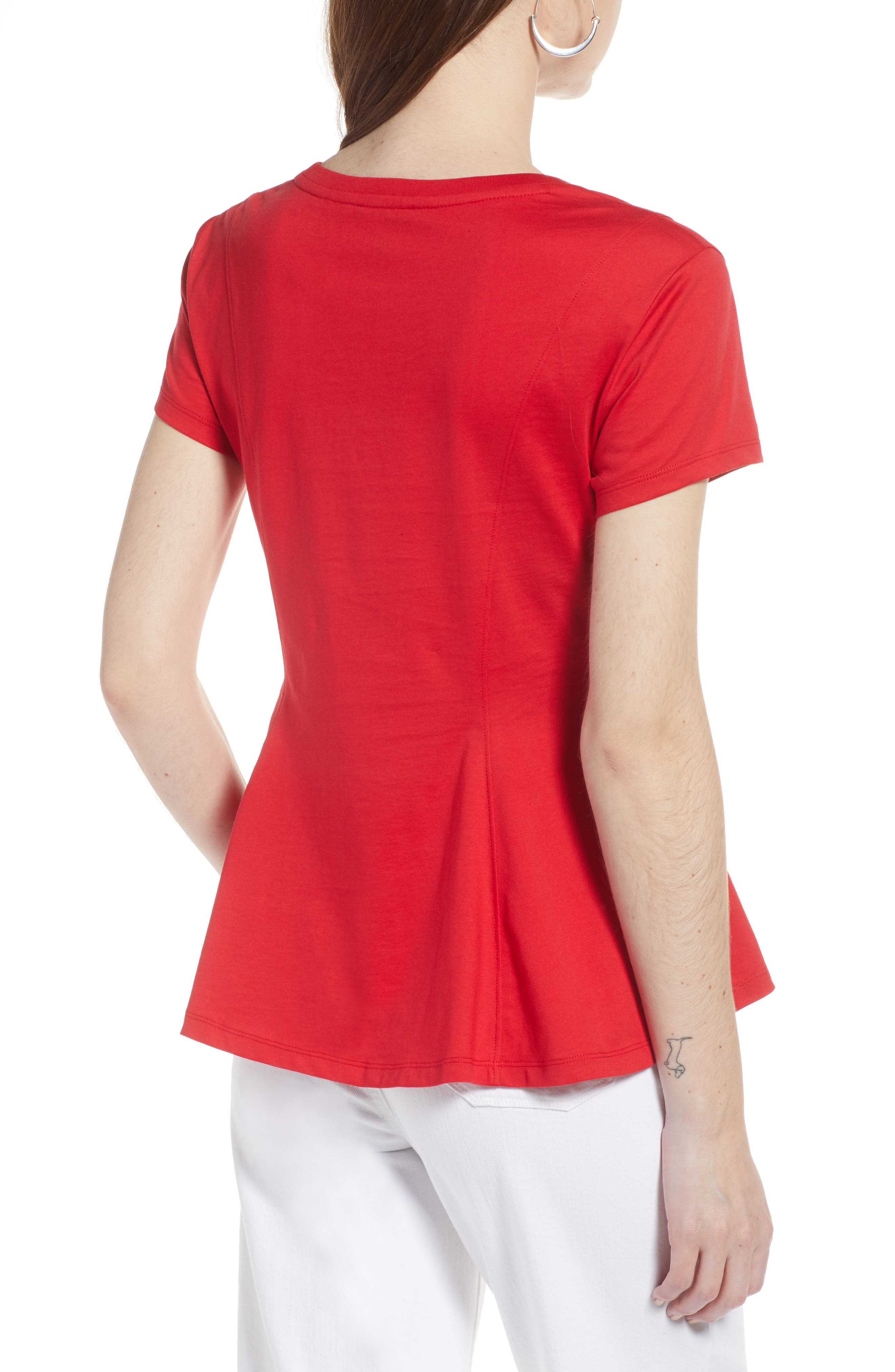 Swing Tee,                             Alternate thumbnail 2, color,                             Red Lipstick