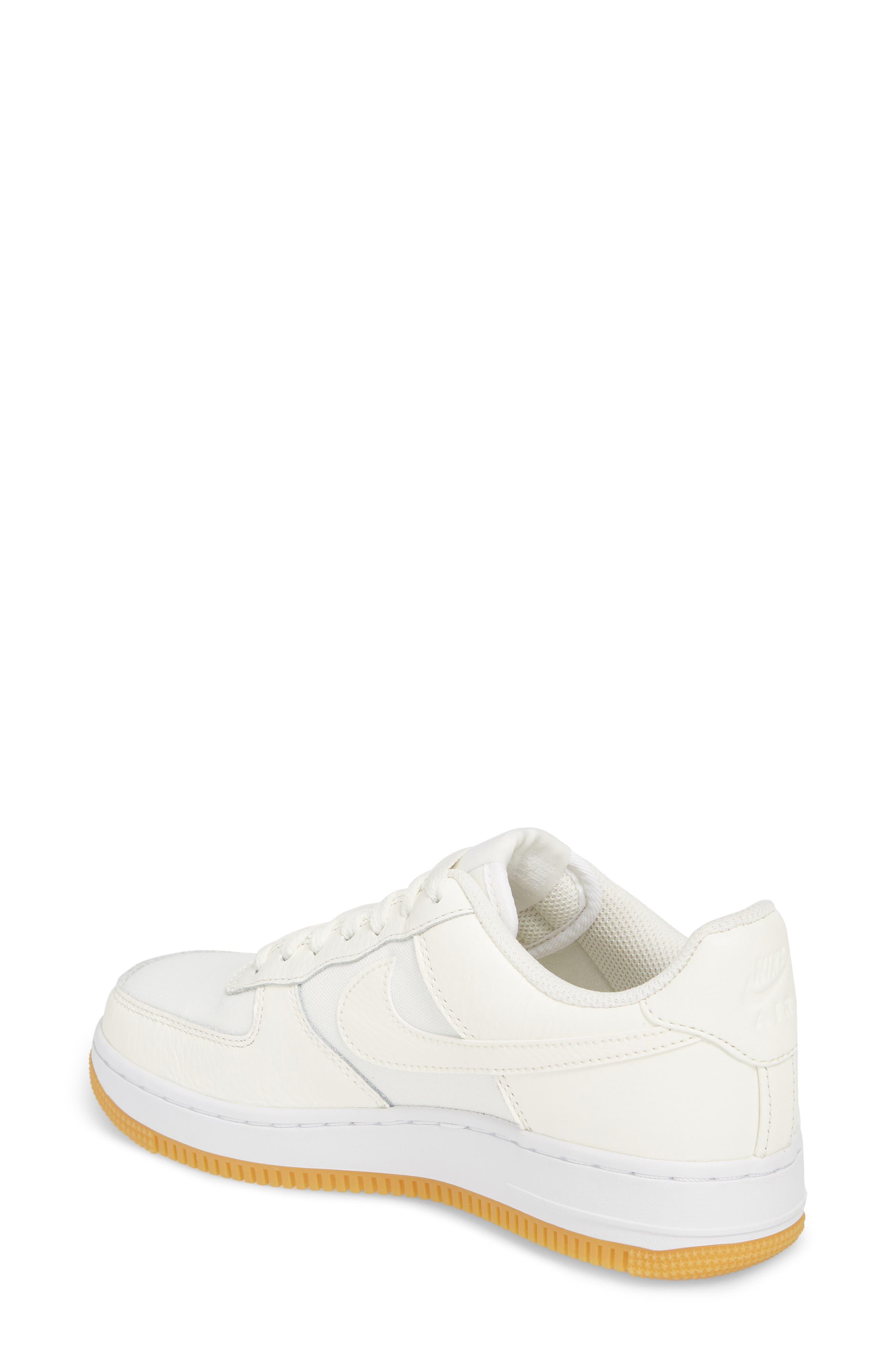 Air Force 1 '07 Premium Sneaker,                             Alternate thumbnail 2, color,                             Sail/ White/ Light Brown